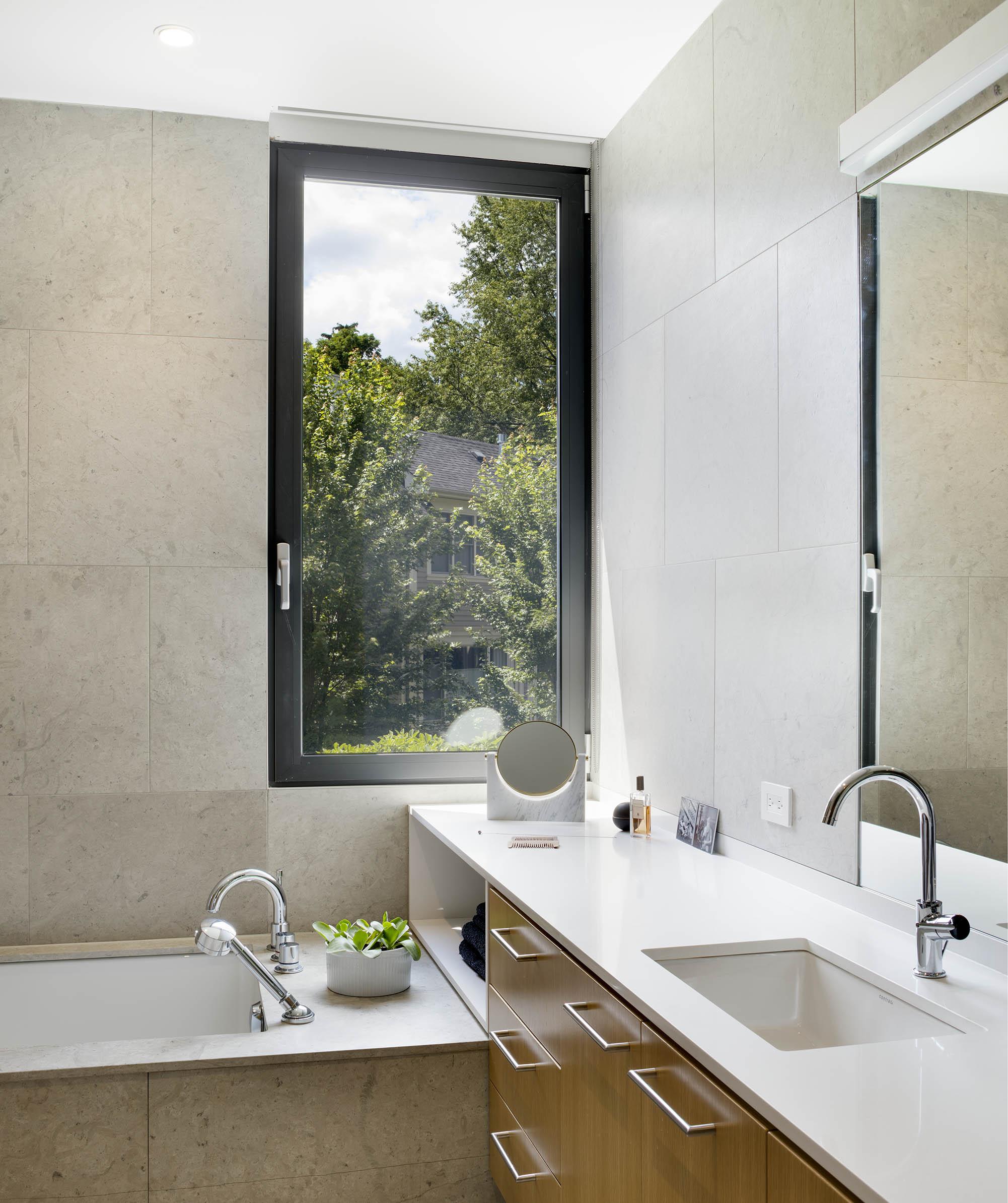 A House in a Grove Interior Bath