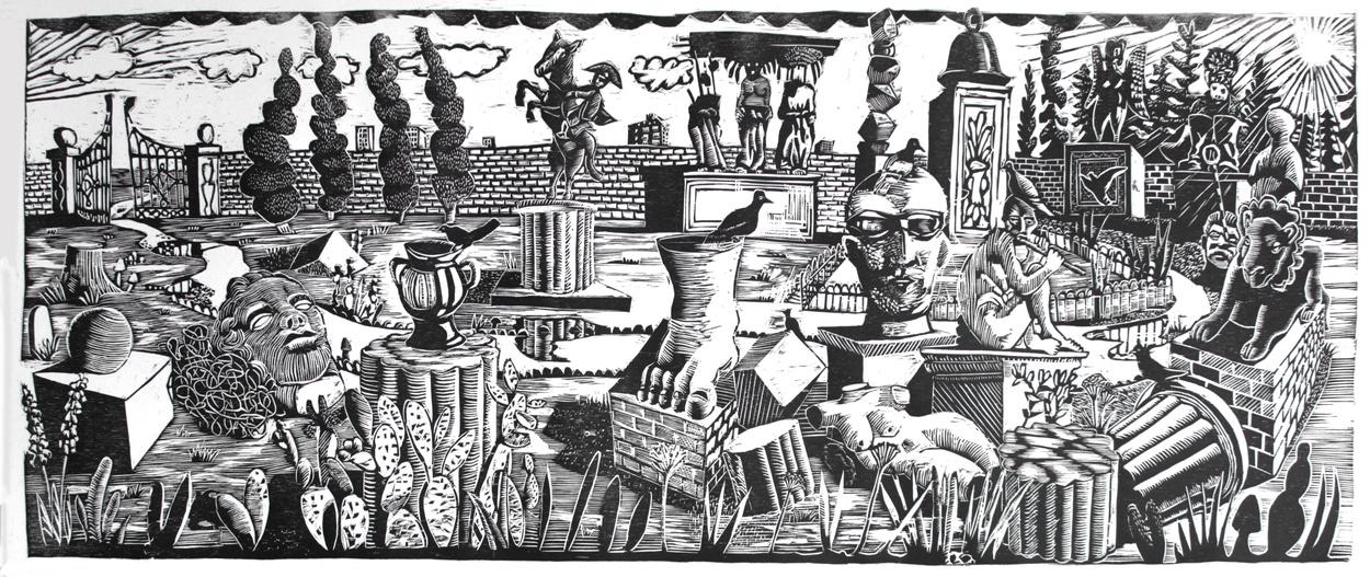 1. Daniel MacCarthy, cemetery des refusé, woodcut, 108x42cm,2018.jpg