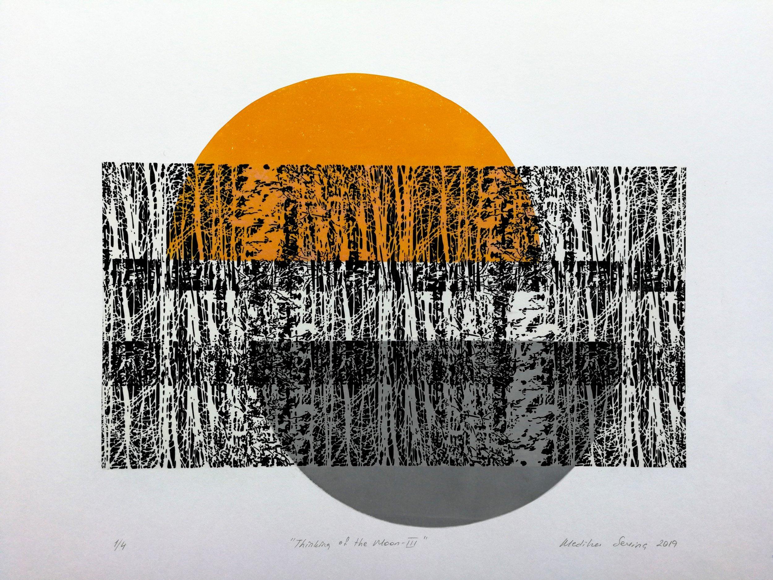 3. Mediha Sevinc, Thinking of the Moon- III, 31x39,5cm, 2019.jpg