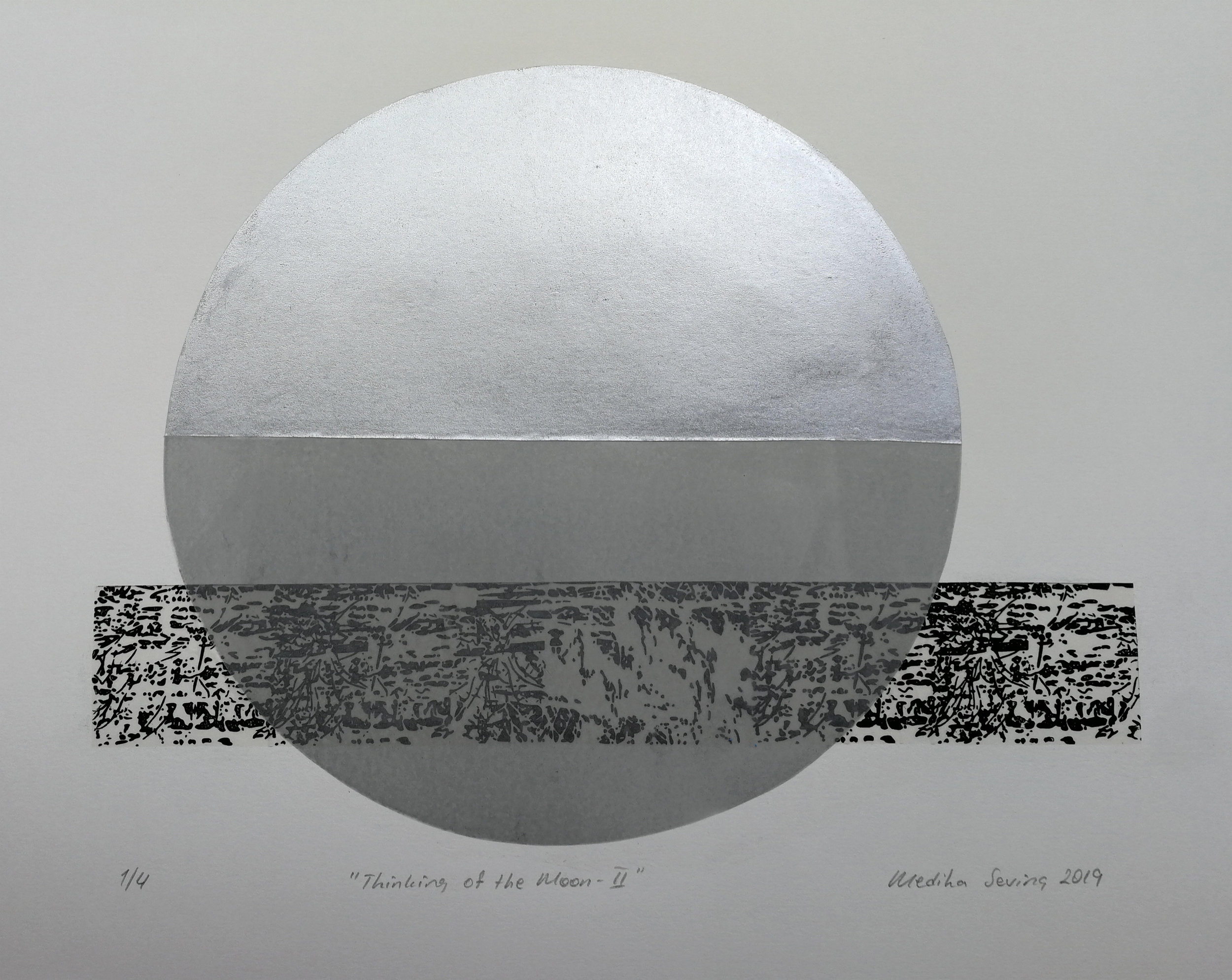 2. Mediha Sevinc, Thinking of the Moon- II, 32,5x25,3cm, 2019.jpg