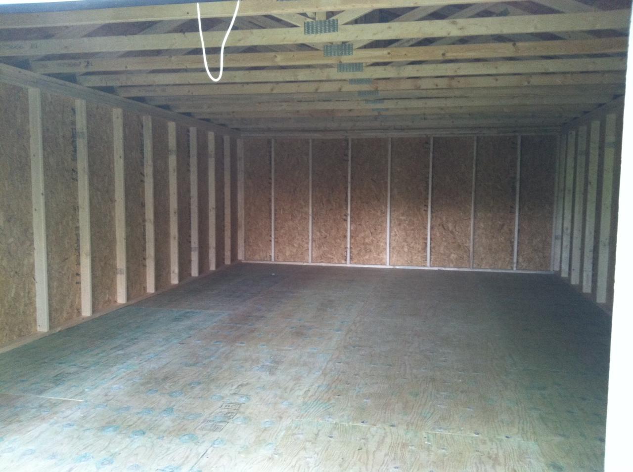 Interior 16x24 Garage
