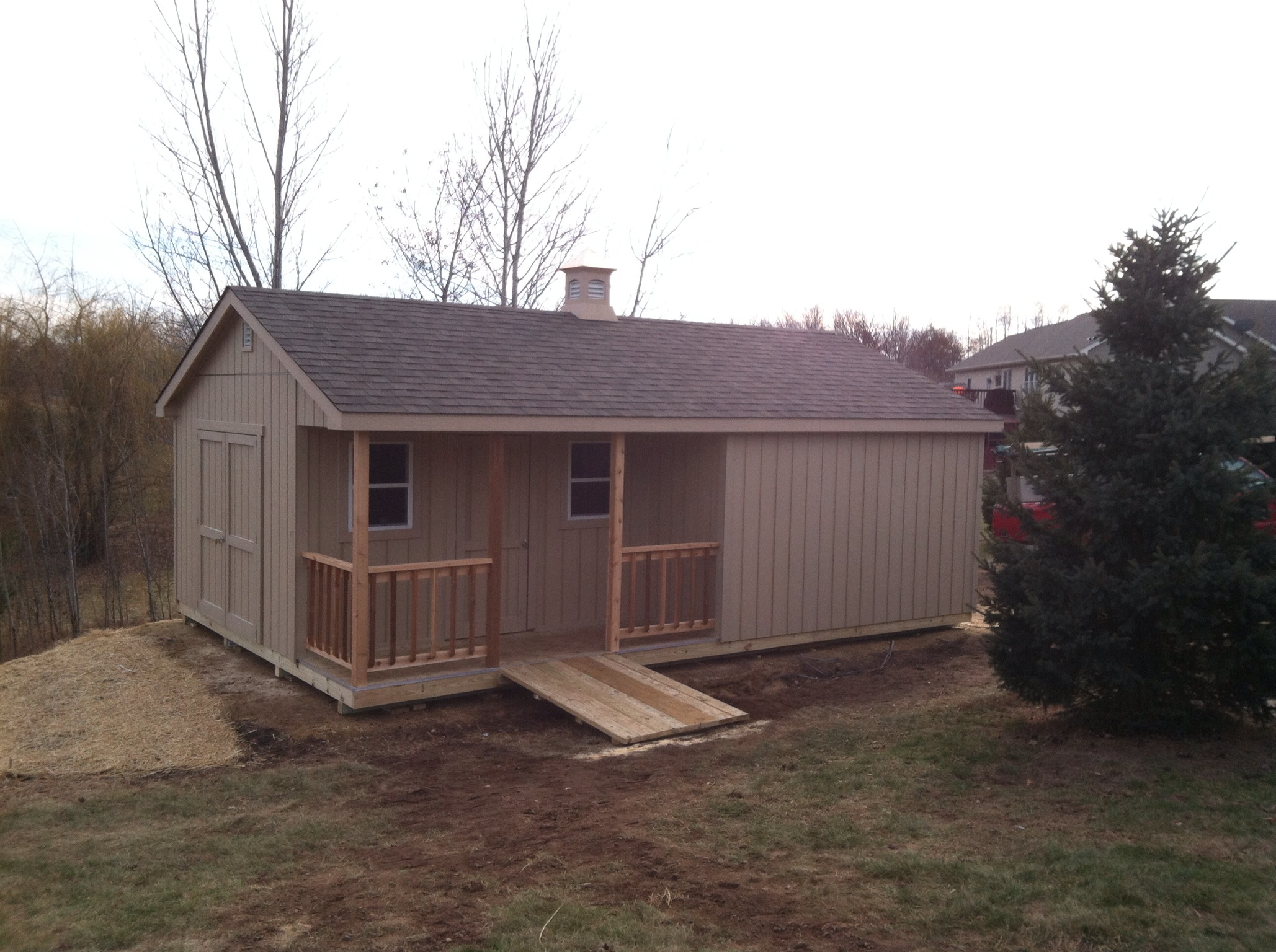 16x24x12 Gable Standard w/ Inset Porch