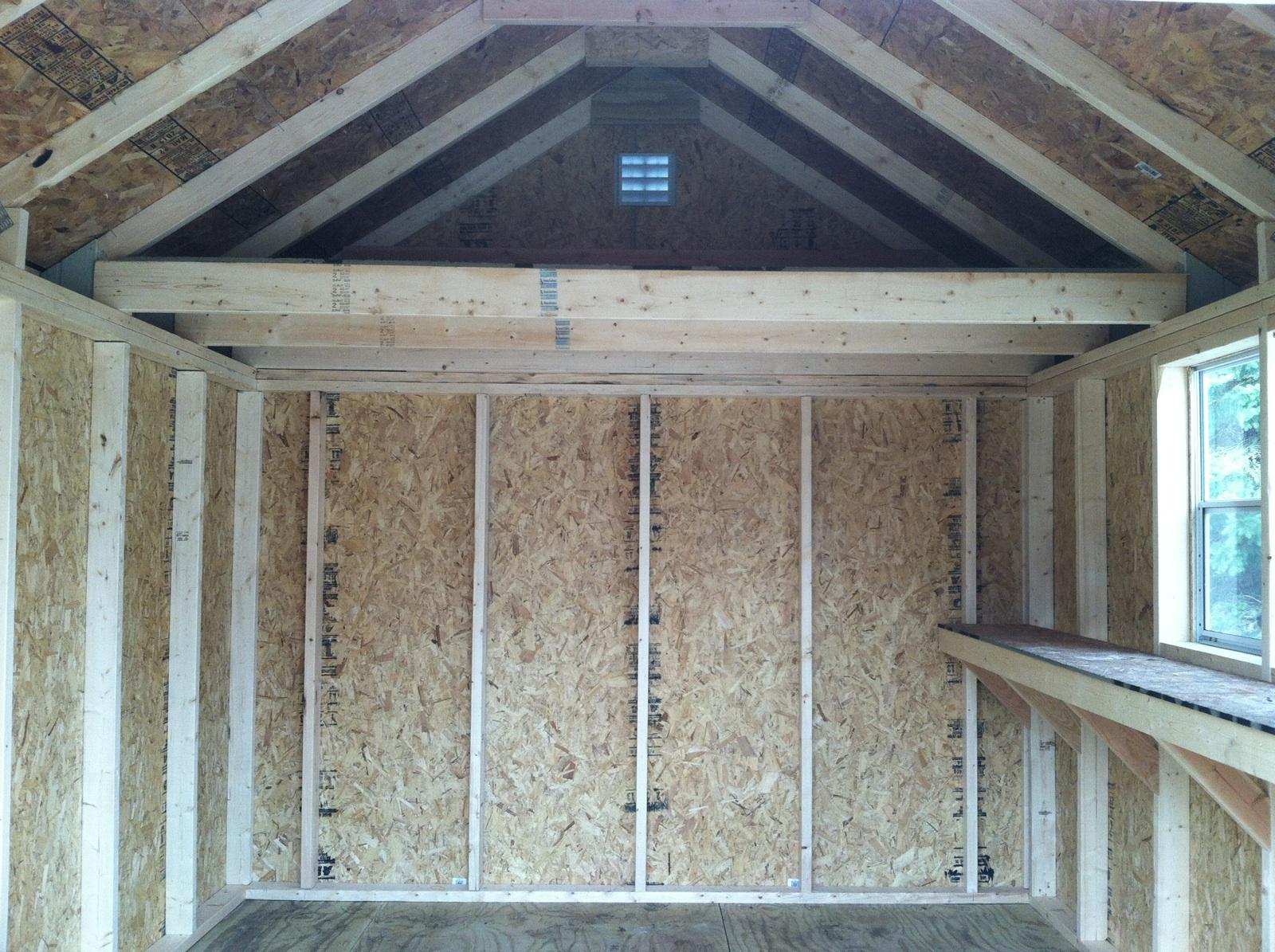 Interior Loft - 10' Wide Gable Deluxe and 1' Deep Shelving