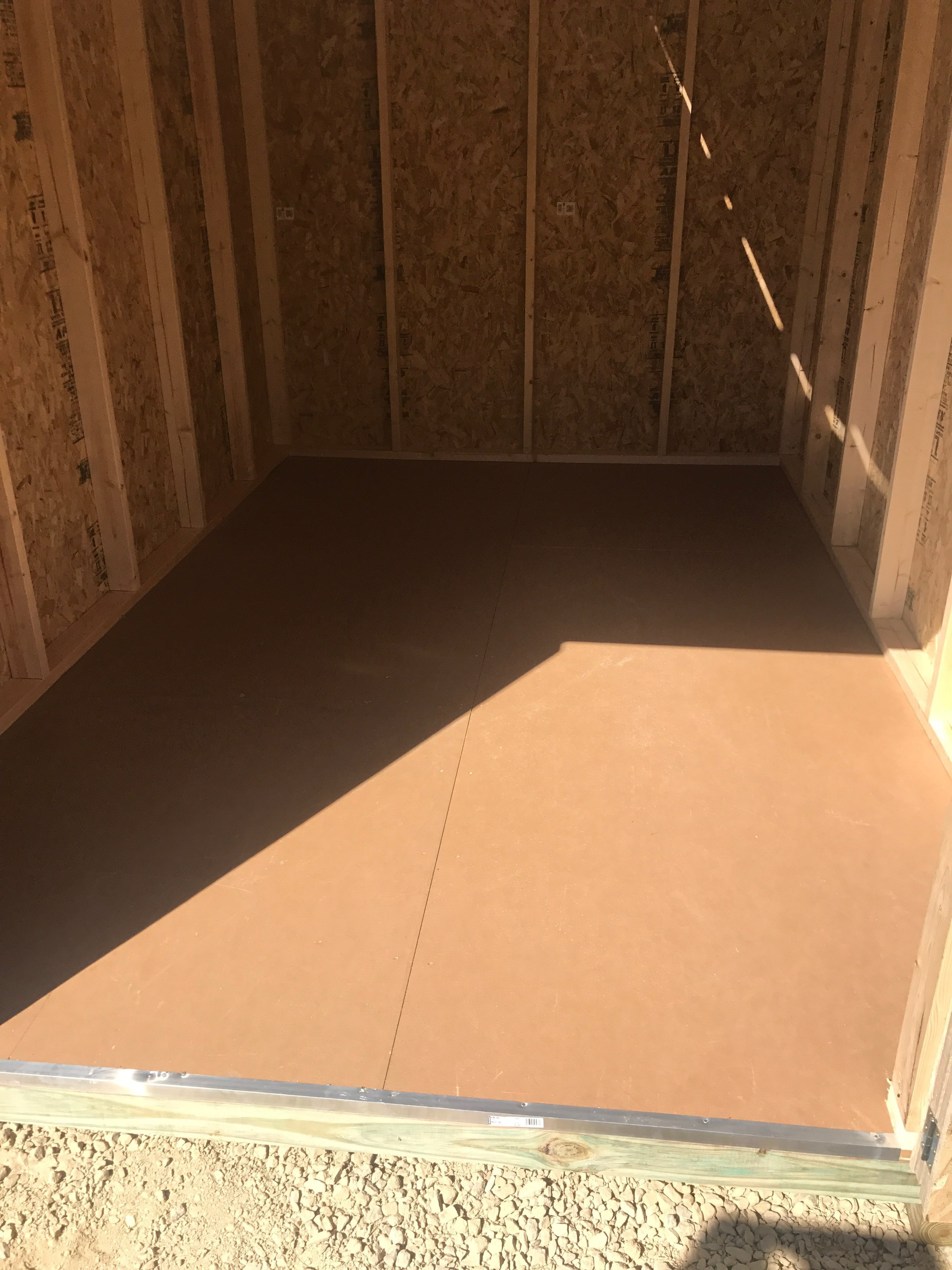 Included Feature - 3/4 Tongue & Groove LP ProStruct flooring and Aluminum Door Threshold