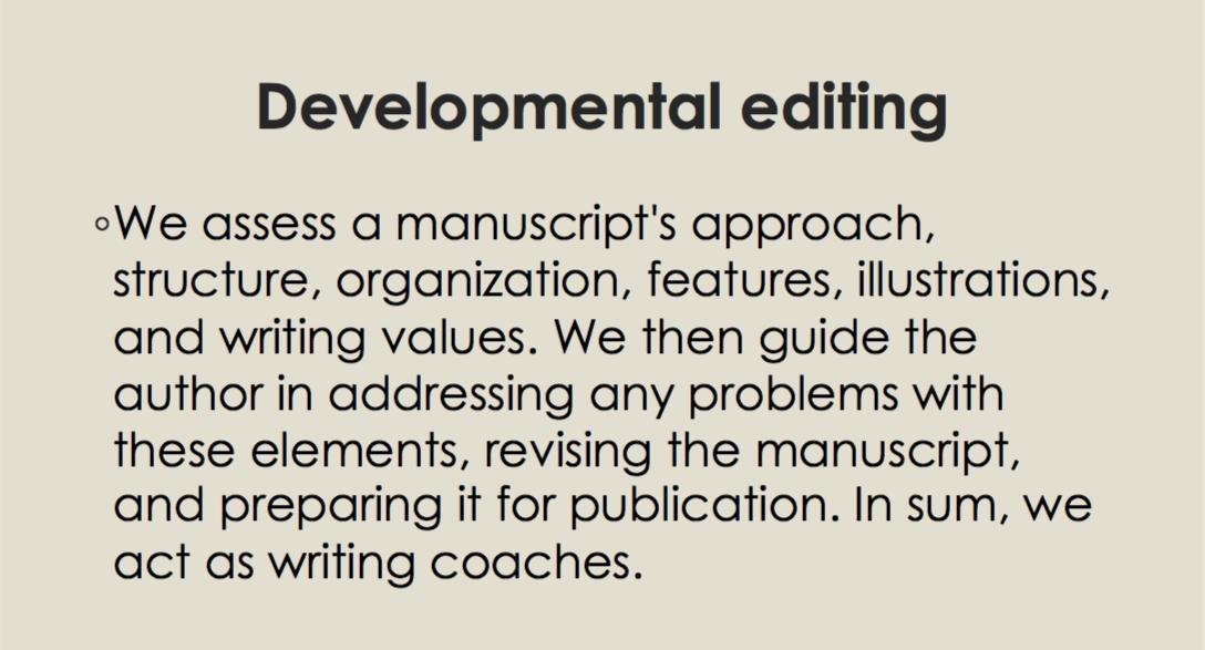 Copyediting. Developmental editing.png