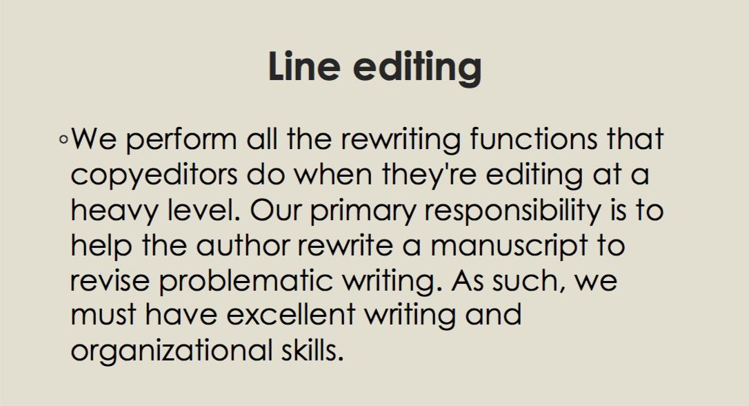 Line editing. Copyediting.png