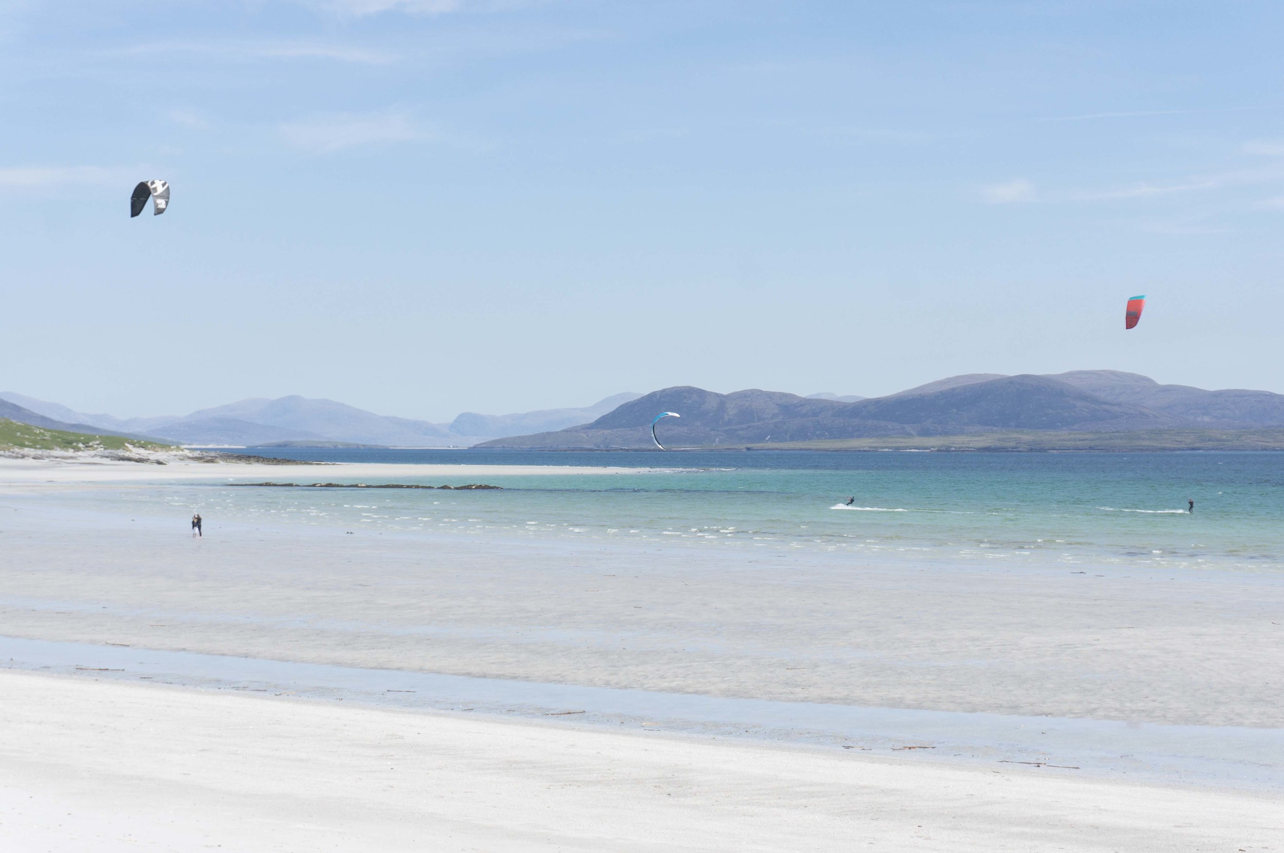 Walking, Cycling and Water sports - Hike the moorland hills of North Uist or amble the empty, white beaches along our coast. Cycle with your family on quiet, single track island roads. Enjoy the ocean air and clear turquoise water.