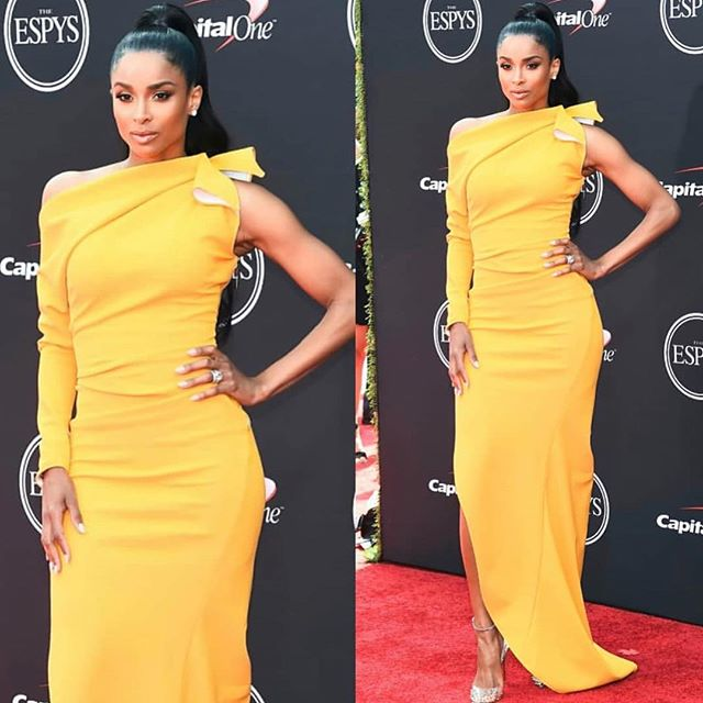 @ciara looks amazing in #Maticevski  at the #ESPYS 👏🏼👏🏼 That yellow is 🔥 #stylednreddapproved . . . . #fashionaddict #fashionista #celebrityfashion #designer #womensfashion #styleblogger #styleinspiration #espys2018 #liveincolor #fashioninspo #fashionstylist #imageconsultant