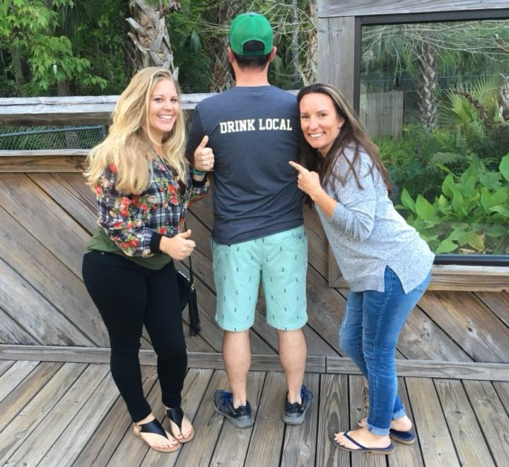 Brandi, our friend with cool t-shirt, and Jes | Photo:  Sanford Girls Pint Out
