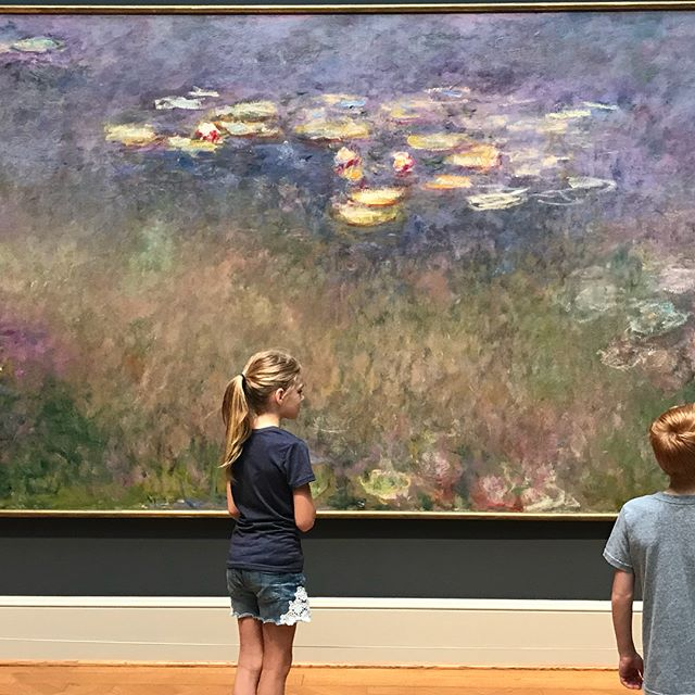 It's so amazing to experience in person what we are studying. I ❤️ Monet!  We also saw a ballet based on Degas sculpture a few years ago and were unexpectedly surprised to see the sculpture today!  Native American art was something we read about this year through #theplayfulpioneers which we also got to see!  Amazing to see how art has played a role throughout history. We were born to create!