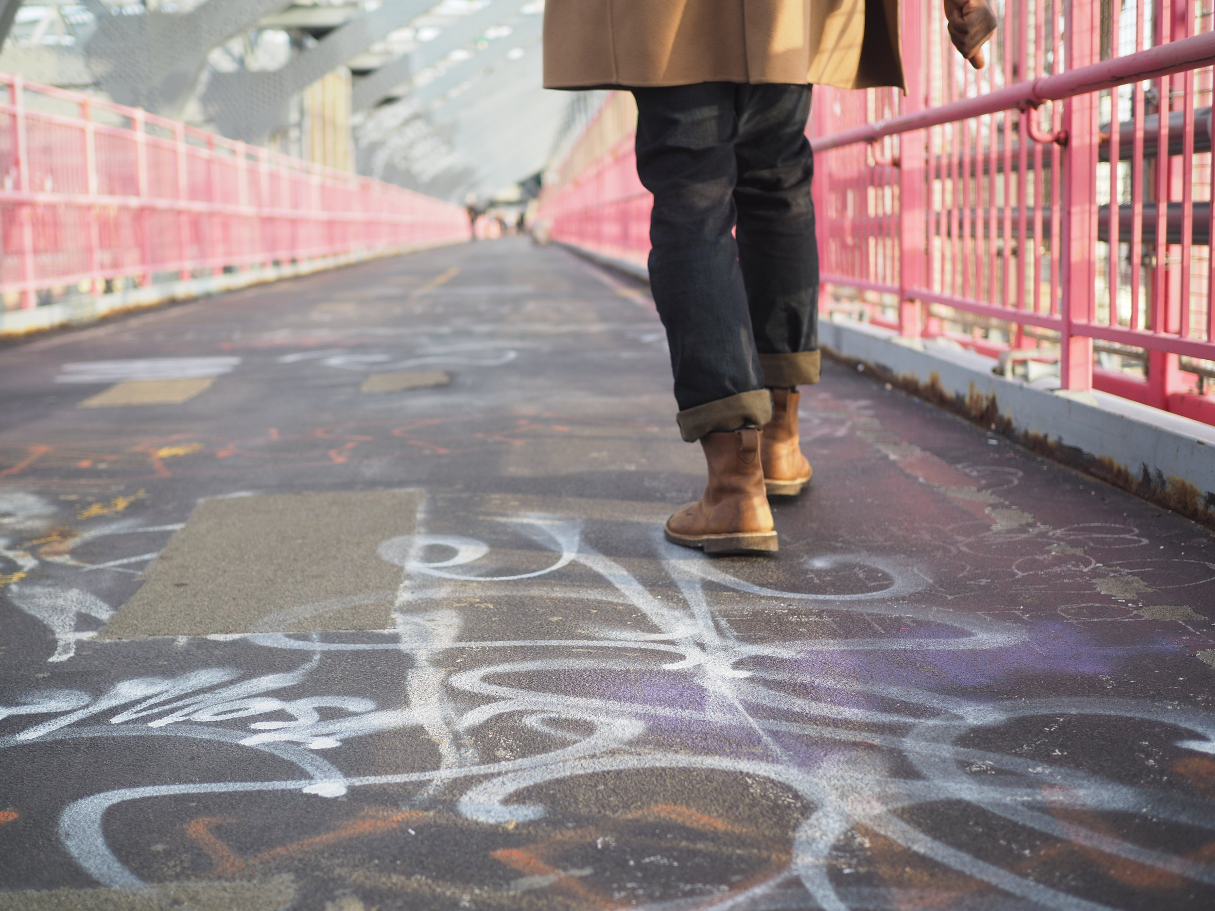 A walk over the Williamsburg Bridge  Courtesy of Aldon Photos.