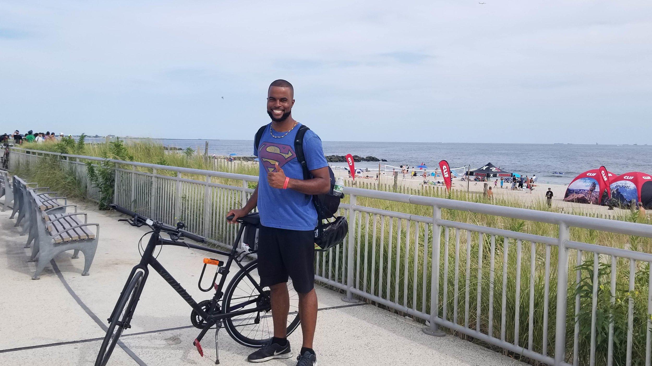 Chadd in Rockaway Beach, Queens, N.Y.    - Courtesy of Chadd Roberts
