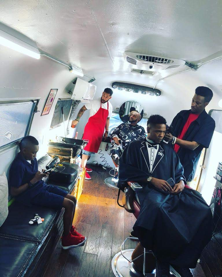 "En Root Mobile Barbershop, ""It's More Than Just A Haircut"" - Oklahoma City, OK -    Courtesy of Vanessa Morrison"