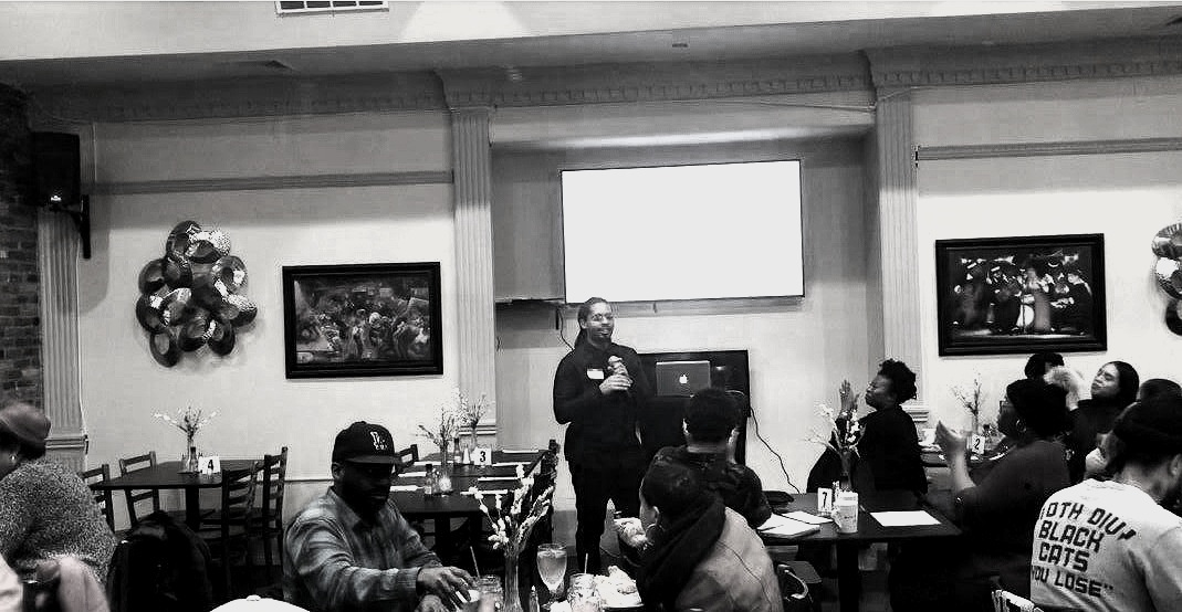Paul Perez hosting a workshop, Bite and Build, through his company Better Living Interest, LLC - Buffalo, New York