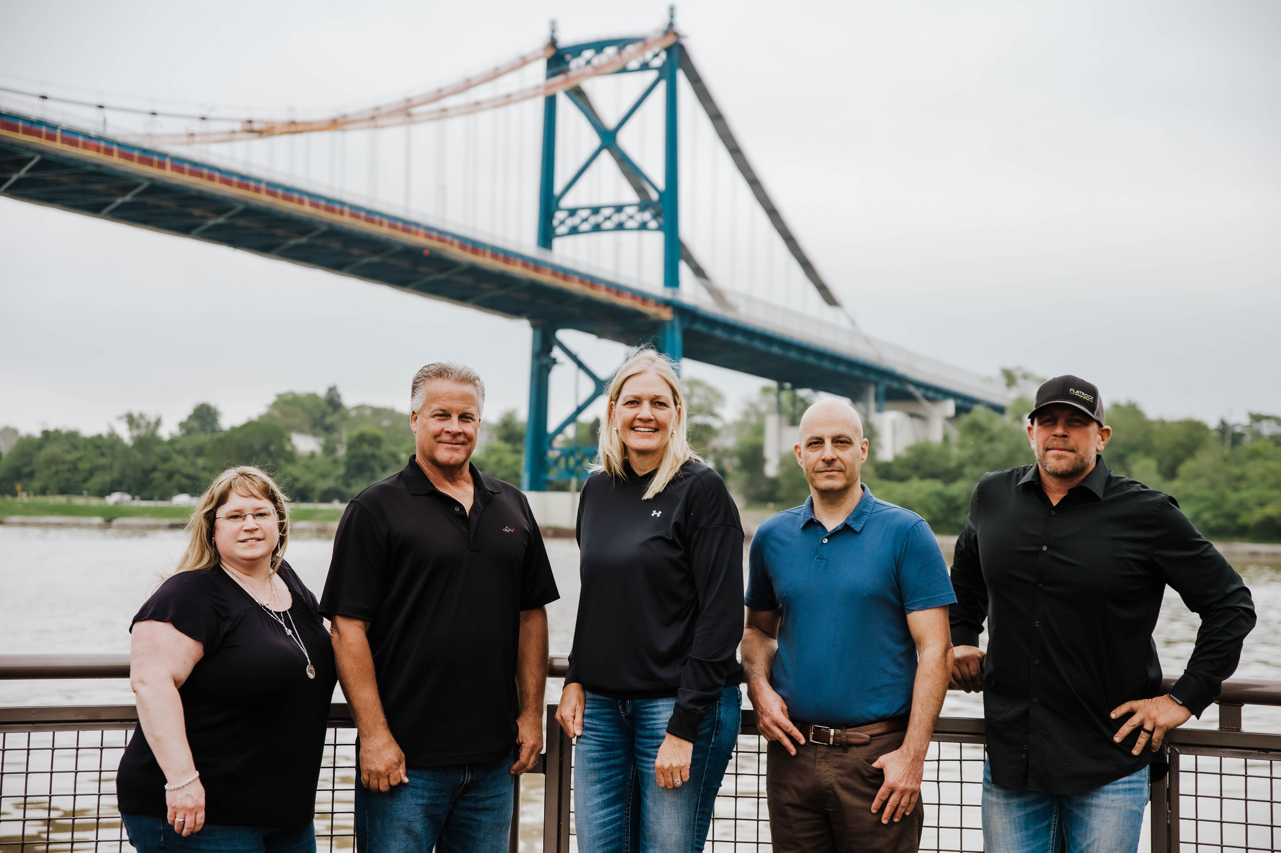 From Left to Right:   Lori Siler , Office Manager;  Jim Starr , Bridge Operations Manager/Estimator;  Leslie Meyer , President/CEO;;  Paul Dymarkowski , Vice President/CFO;  Ben Meyer , Field Superintendent