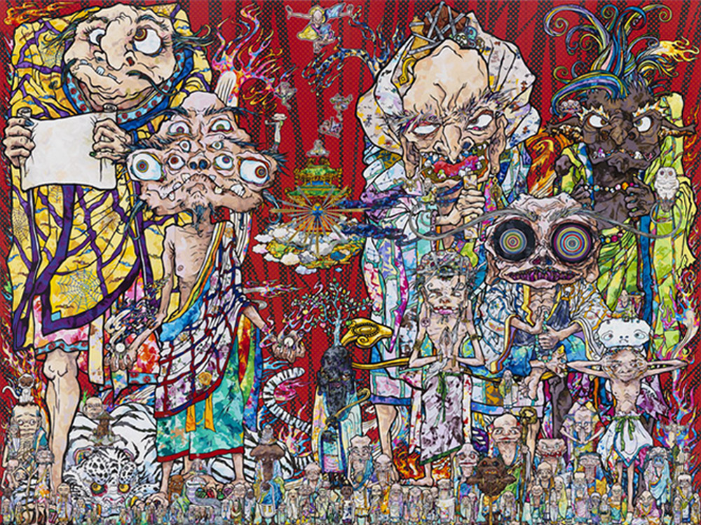 Takashi Murakami, 'Isle of the Dead,' 2014. Acrylic on canvas, 141 3/4 by 189 inches