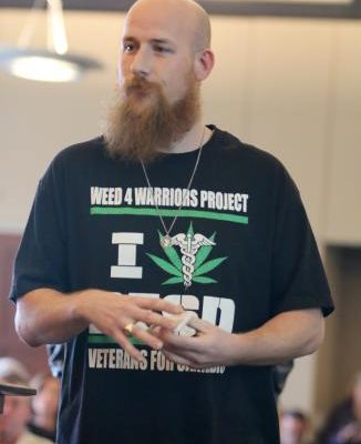 Mark Carillo, COO of the Weed for Warriors Project & founder of the Sacramento Chapter