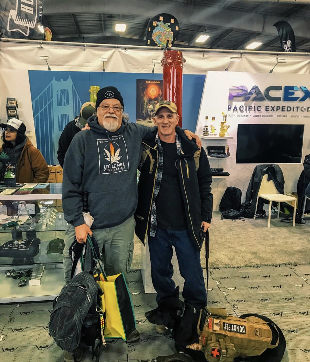 PacEx CEO Chris Coulombe is a military veteran who served 16 years in the Army and Marine Corps. He offered FREE Sunday passes to this year's Emerald Cup to any vet who followed @pac_ex and sent them a DM on Instagram. Here are two winners, Rob Gershon and Bill Crain, Navy and Air Force vets respectively. Thank you for your service!
