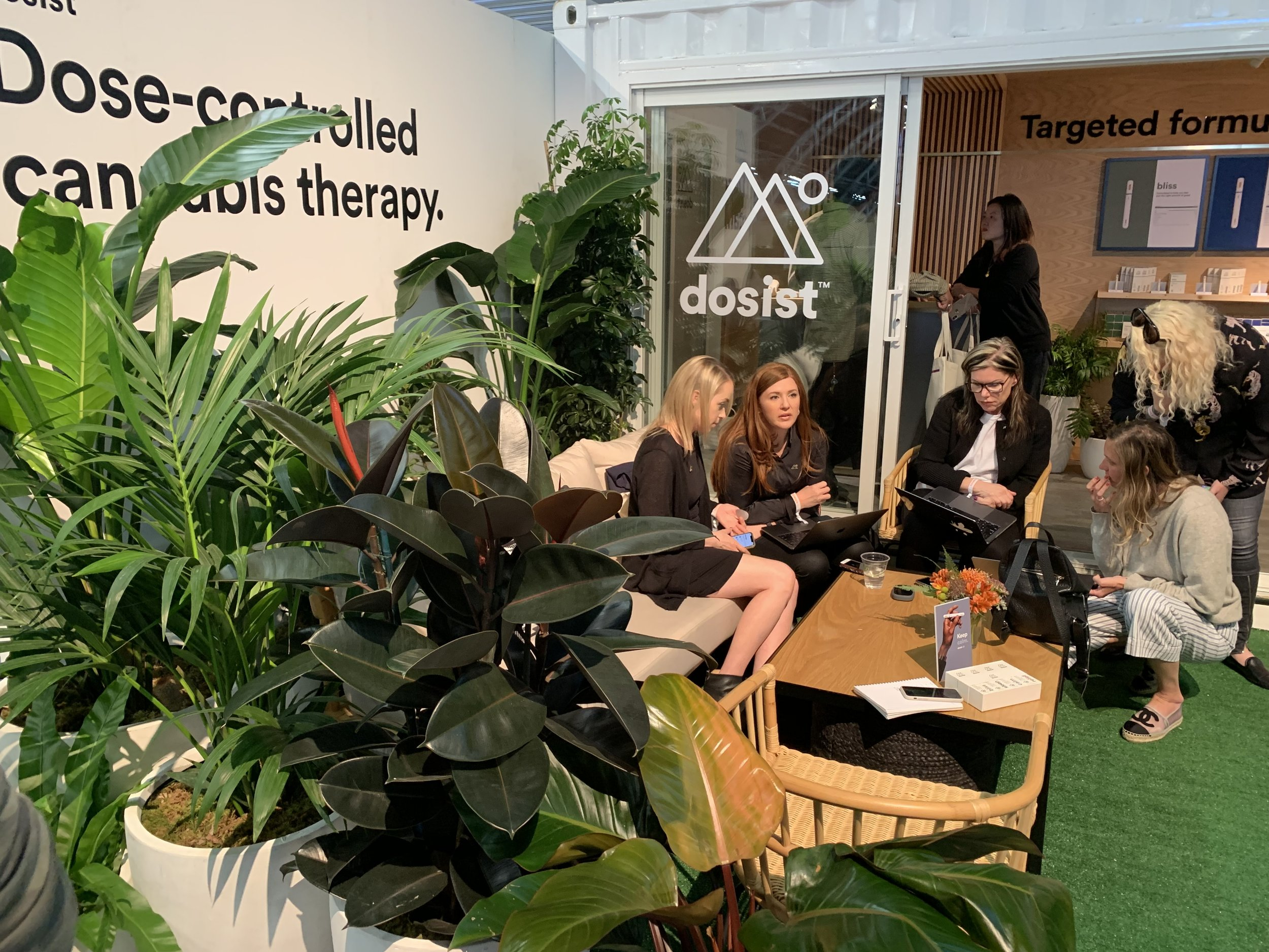 Weed-loving women makin' moves at the Dosist booth at Hall of Flowers 2019