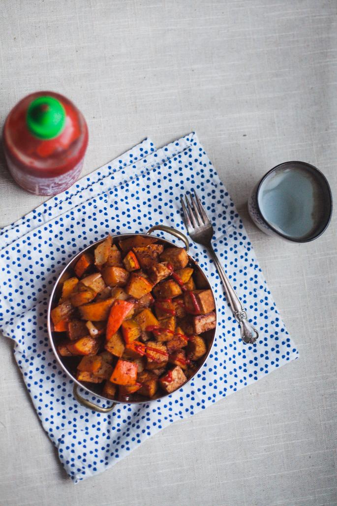 roasted berbere kuri squash & sriracha tofu (gluten free & vegan) | will frolic for food