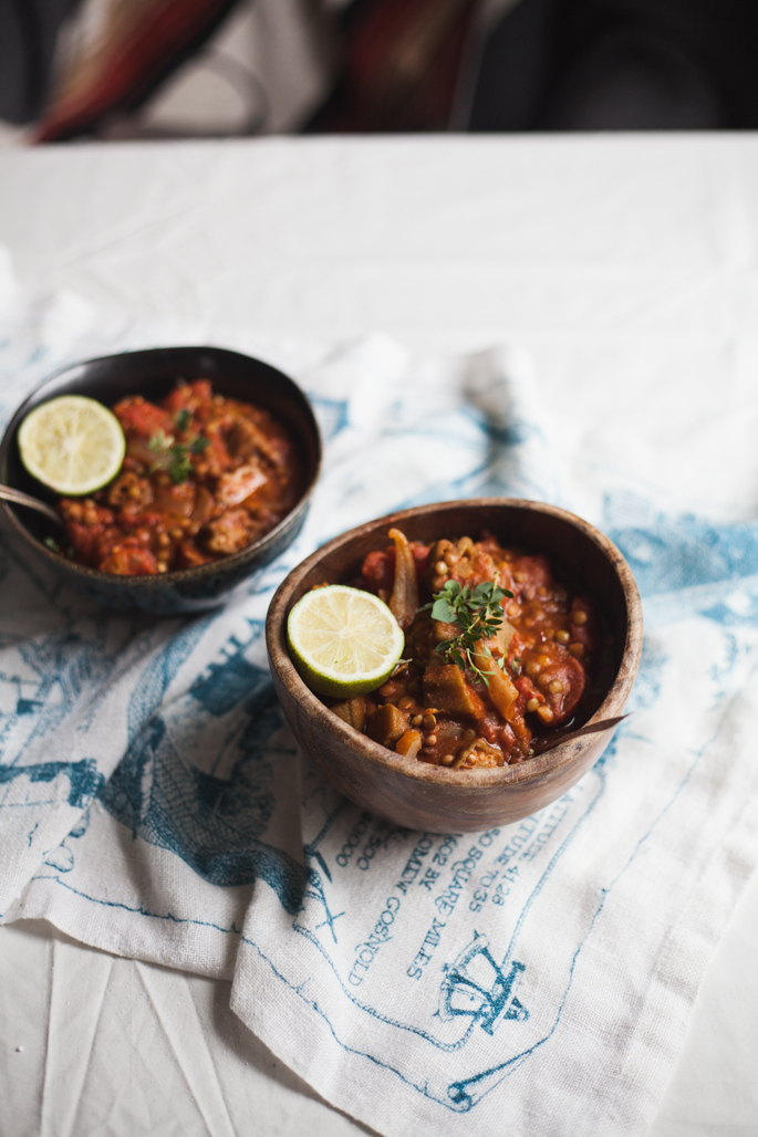 summer lentil and okra gumbo recipe | will frolic for food