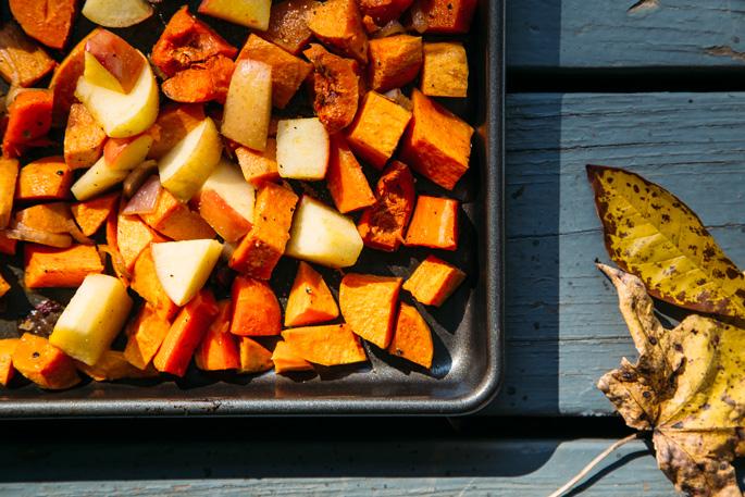 super simple fall seasonal magic salad via will frolic for food by Earthy Feast