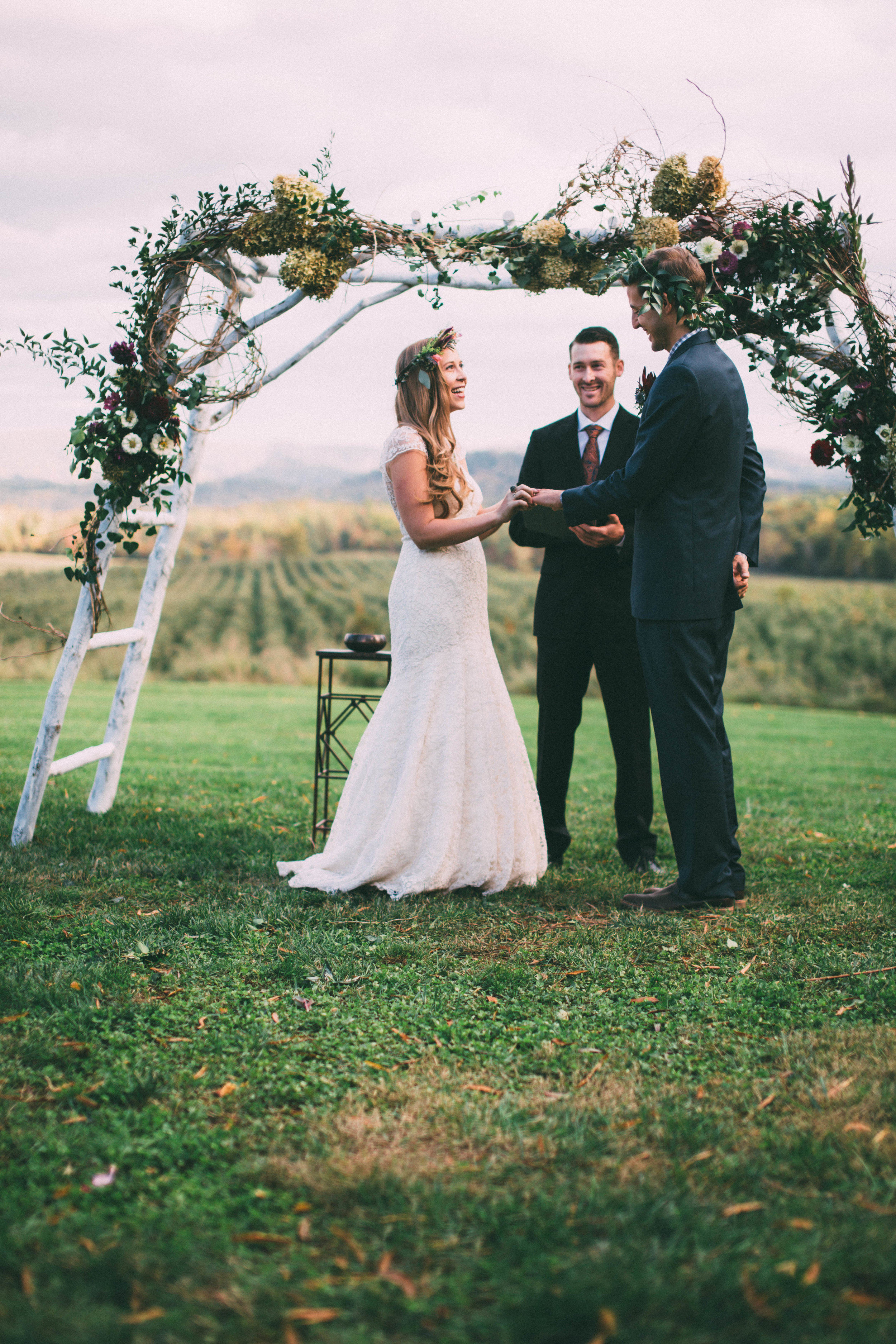 an autumn wedding in the blue ridge mountains -- photos by chelsea diane courtney photography -- via will frolic for food