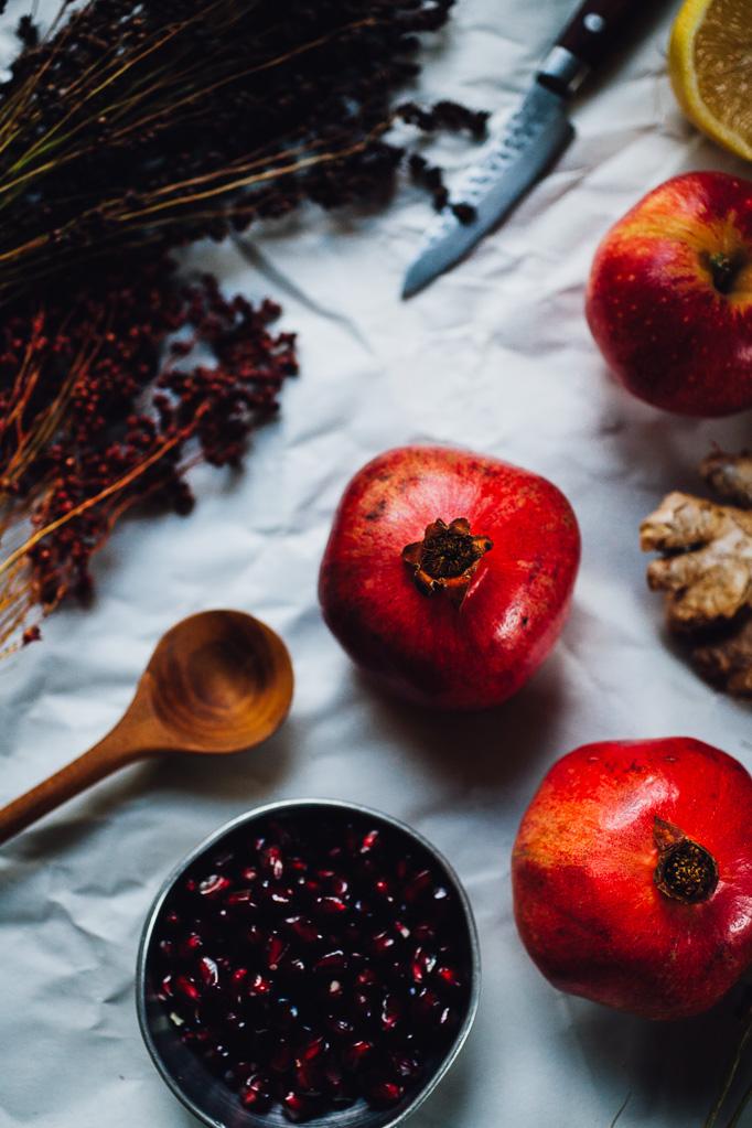 sanguine sangria with apple and pomegranate | recipe via willfrolicforfood.com