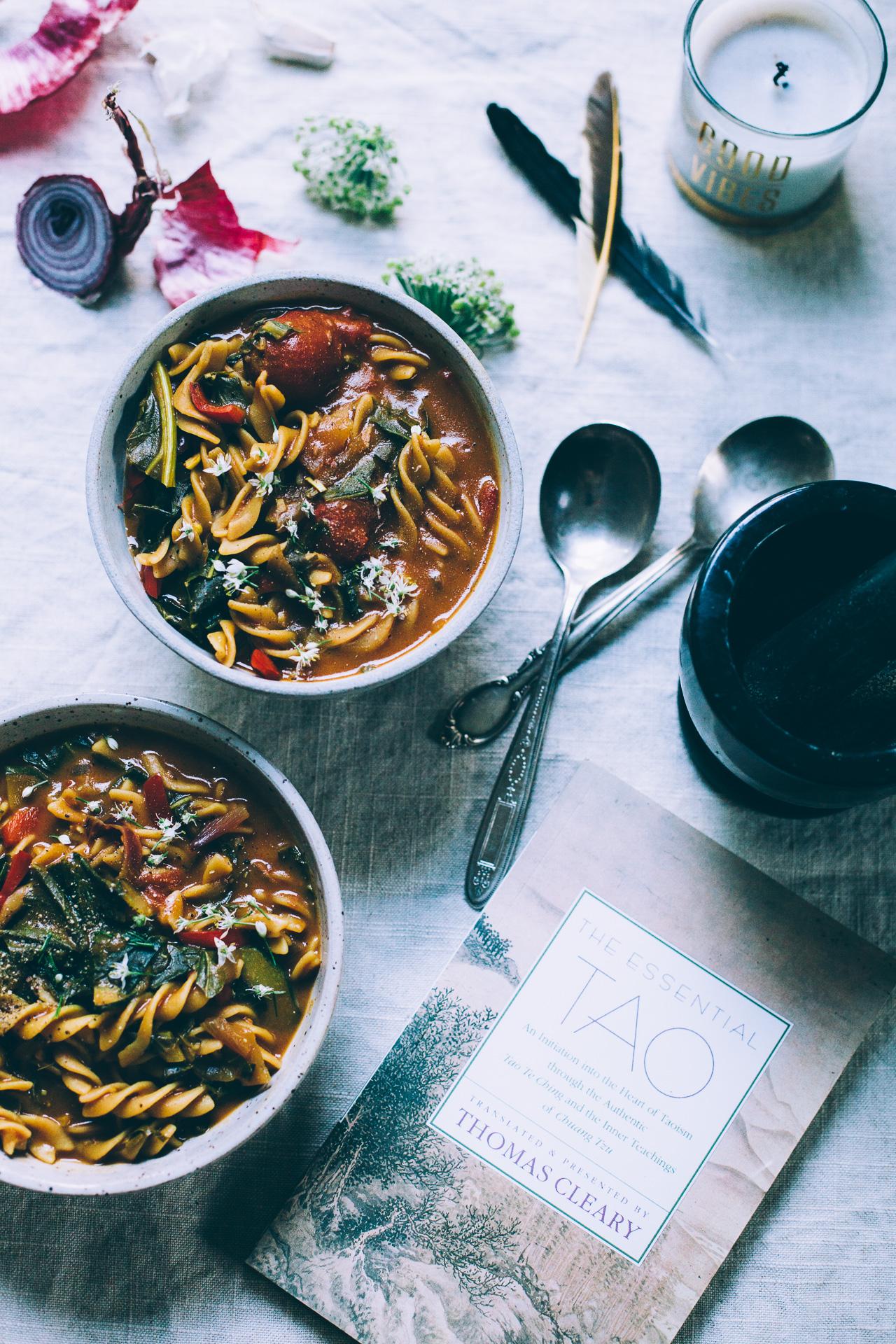 5-Spice Chickpea Noodle Soup   vegan gluten free recipe via willfrolicforfood.com
