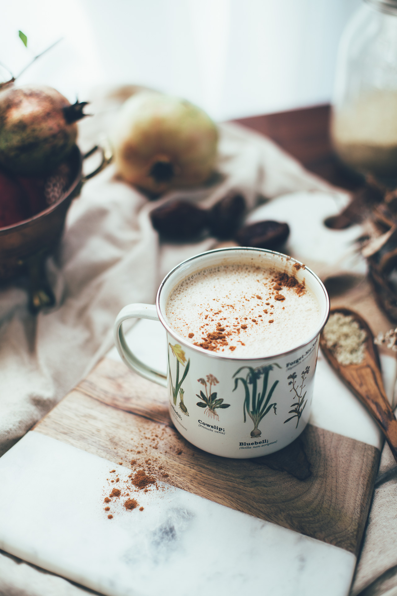 4-Ingredient Vegan Chai Latte with Tahini | recipe via willfrolicforfood.com