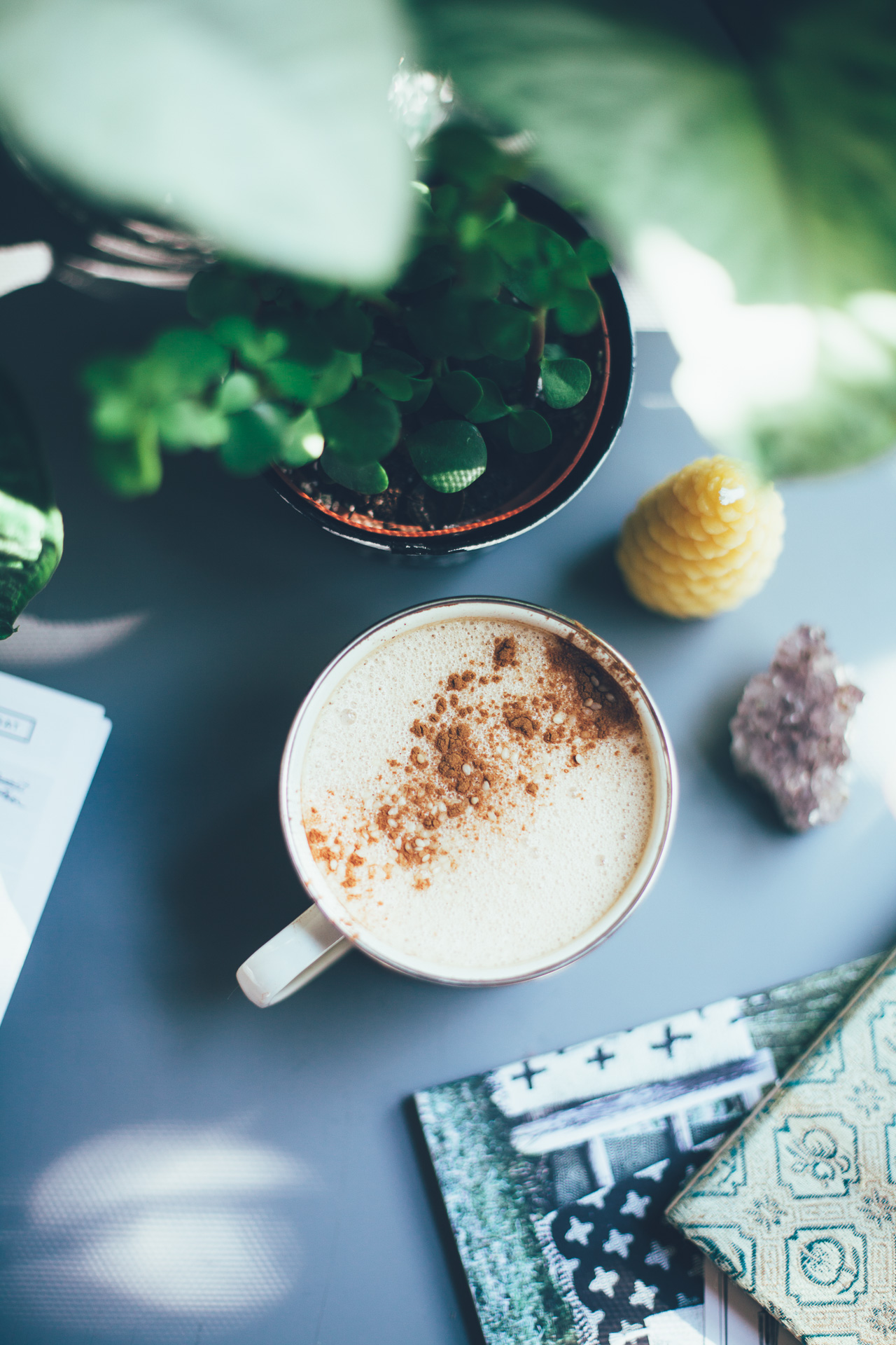 4-Ingredient Vegan Chai Latte with Tahini   recipe via willfrolicforfood.com