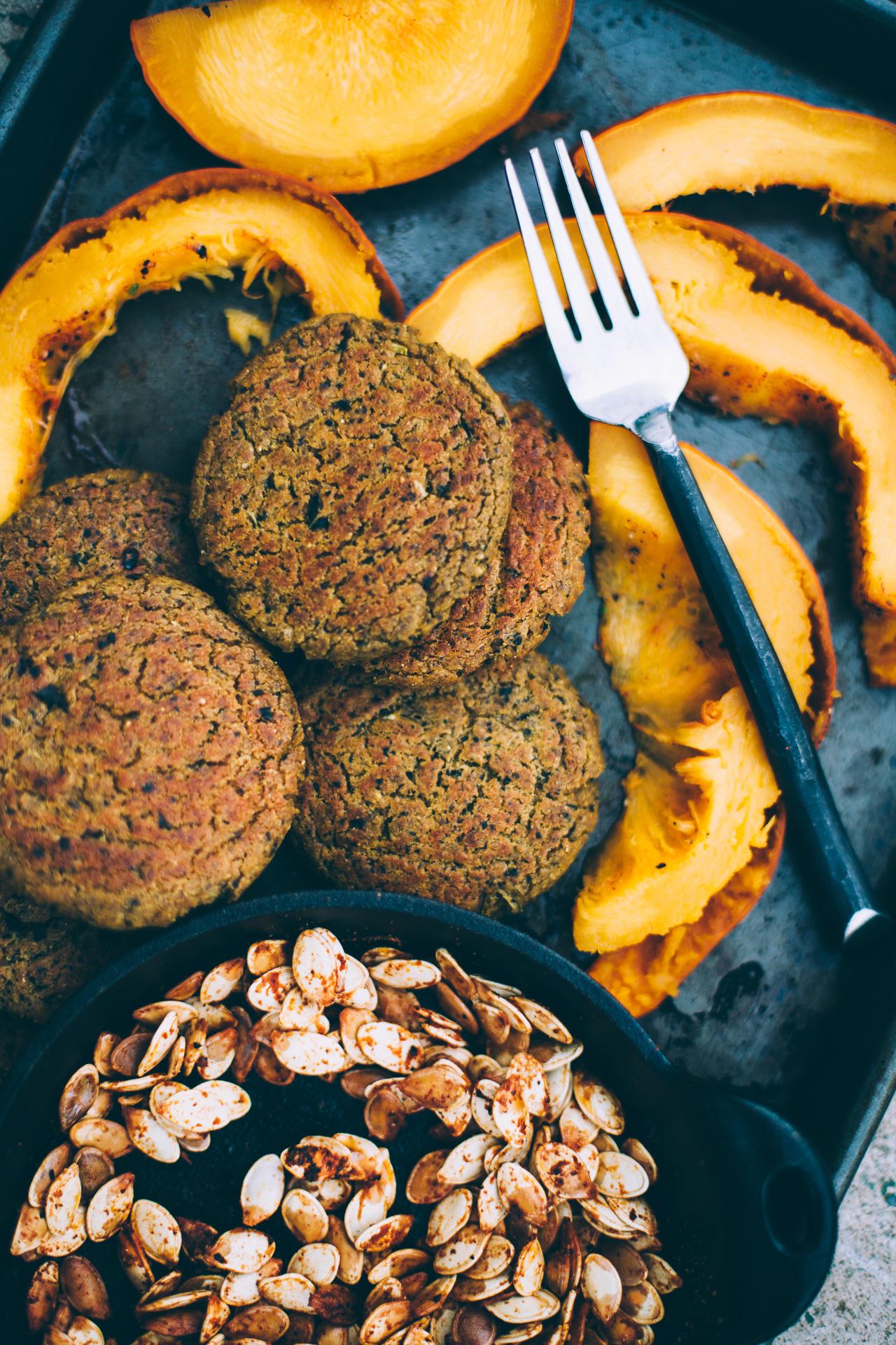 pumpkin kale patties with coconut cilantro rice | willfrolicforfood.com