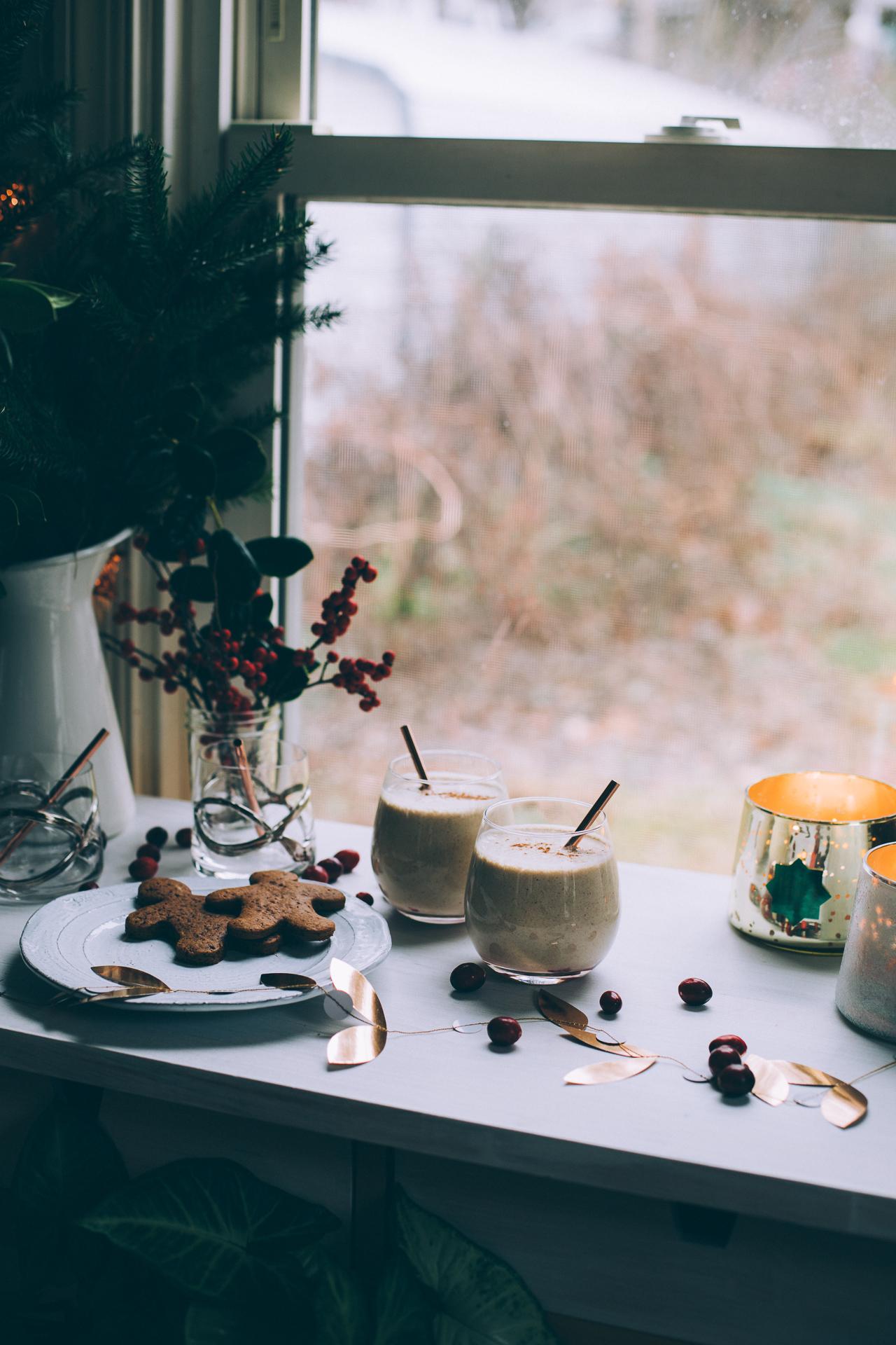 vegan cashew eggnog | recipe via willfrolicforfood.com