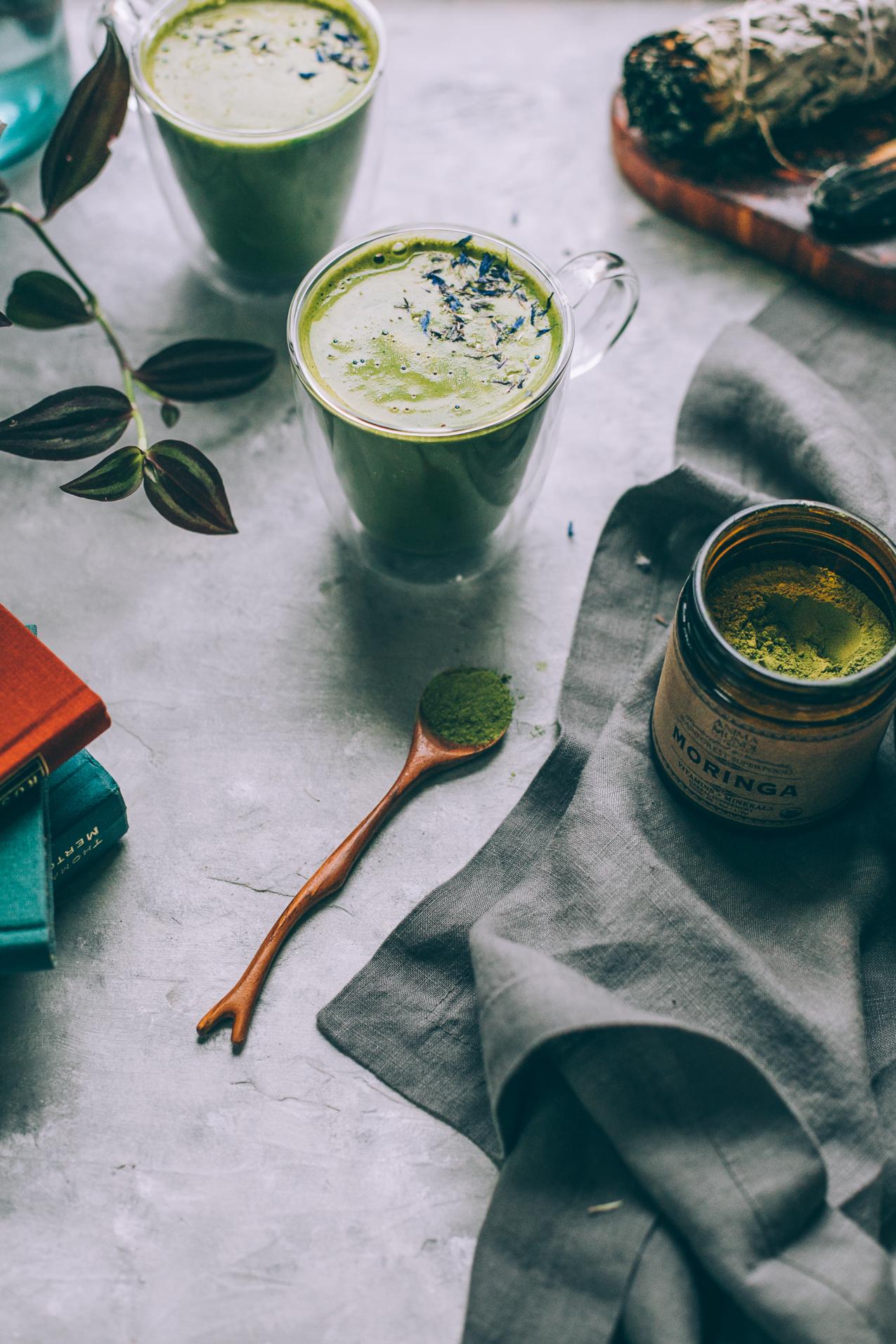 coconut butter matcha latte recipe (vegan)