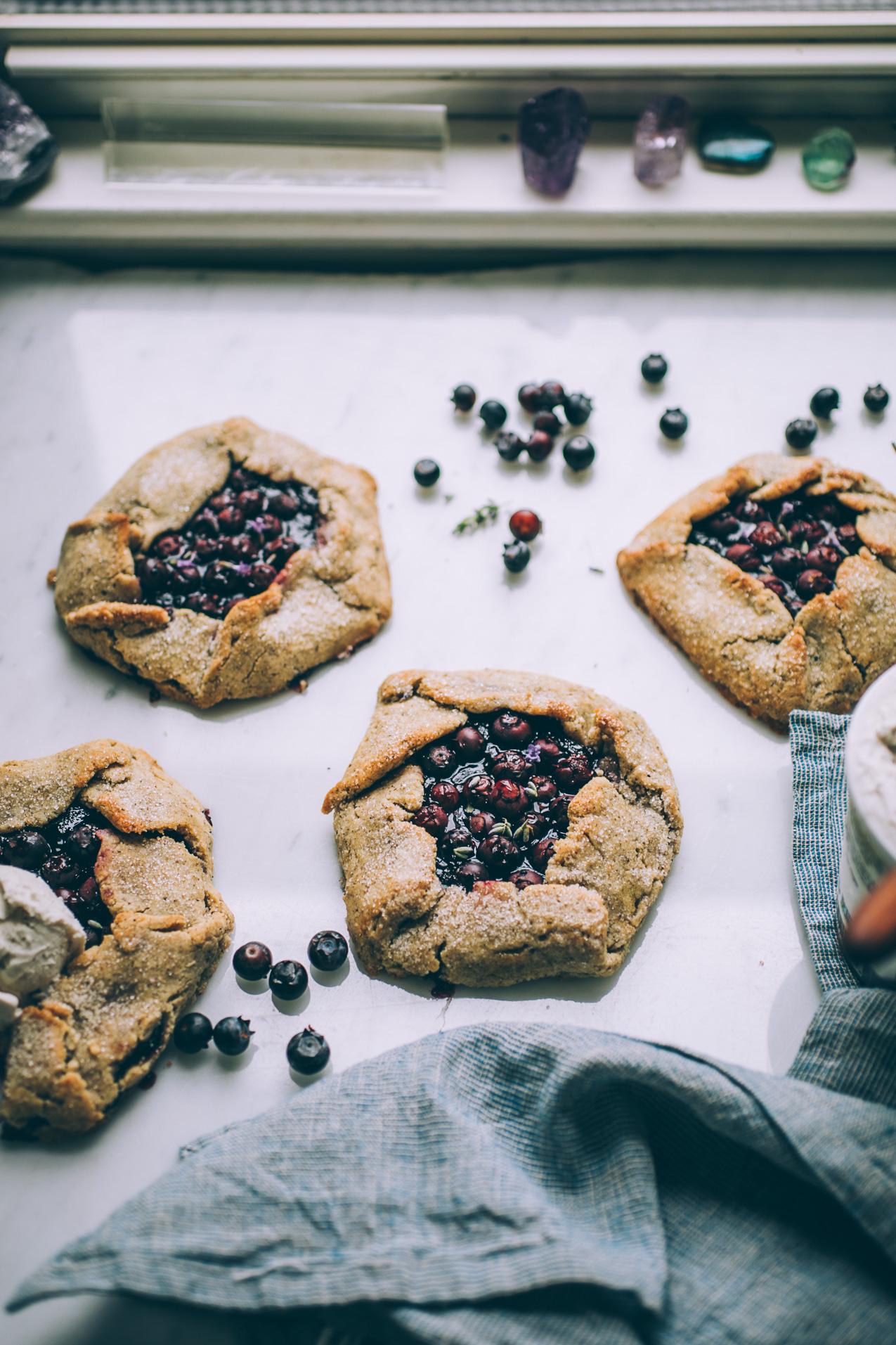 grain free blueberry galette recipe (dairy free)