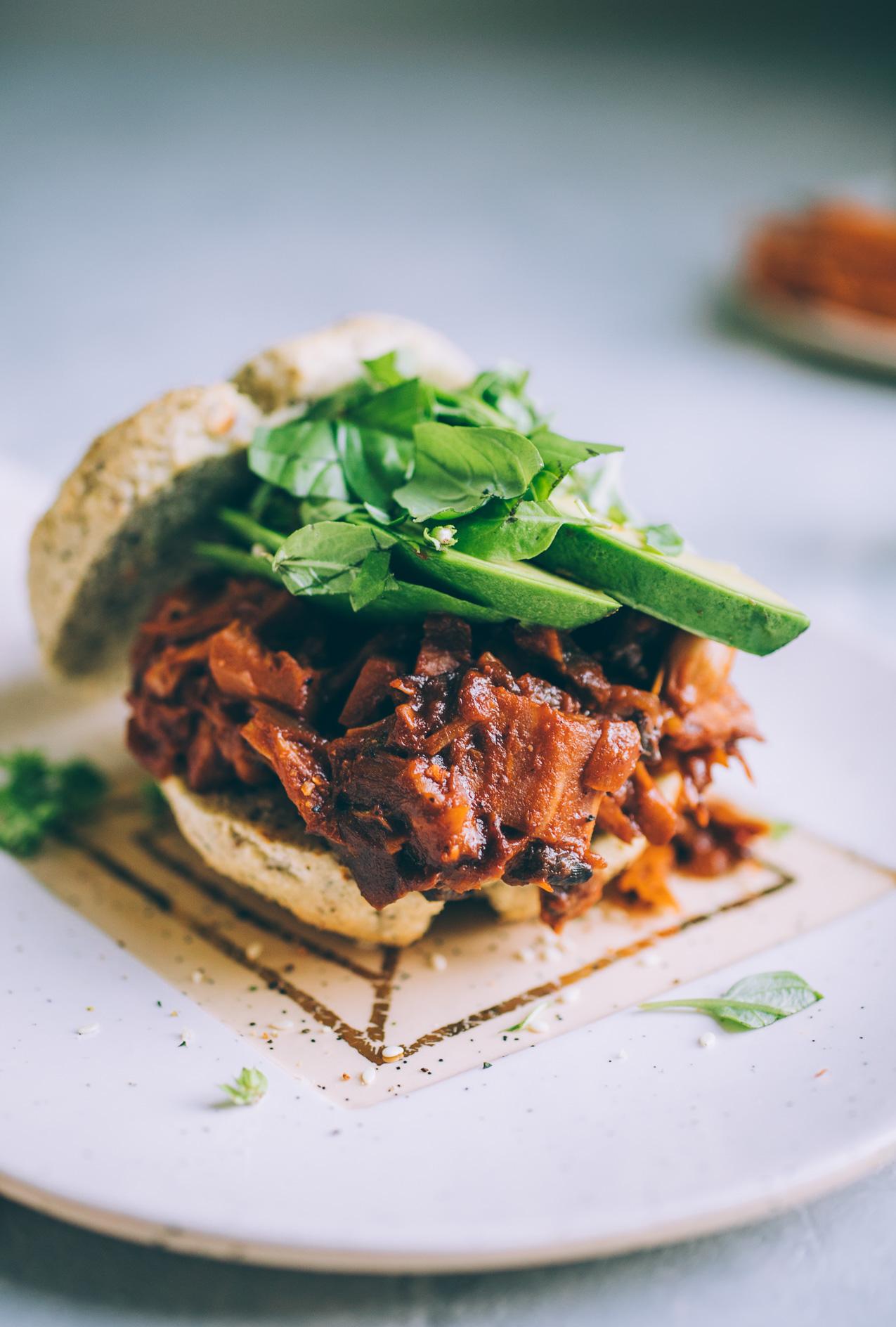 jackfruit mushroom barbecue recipe | vegan barbecue chicken recipe