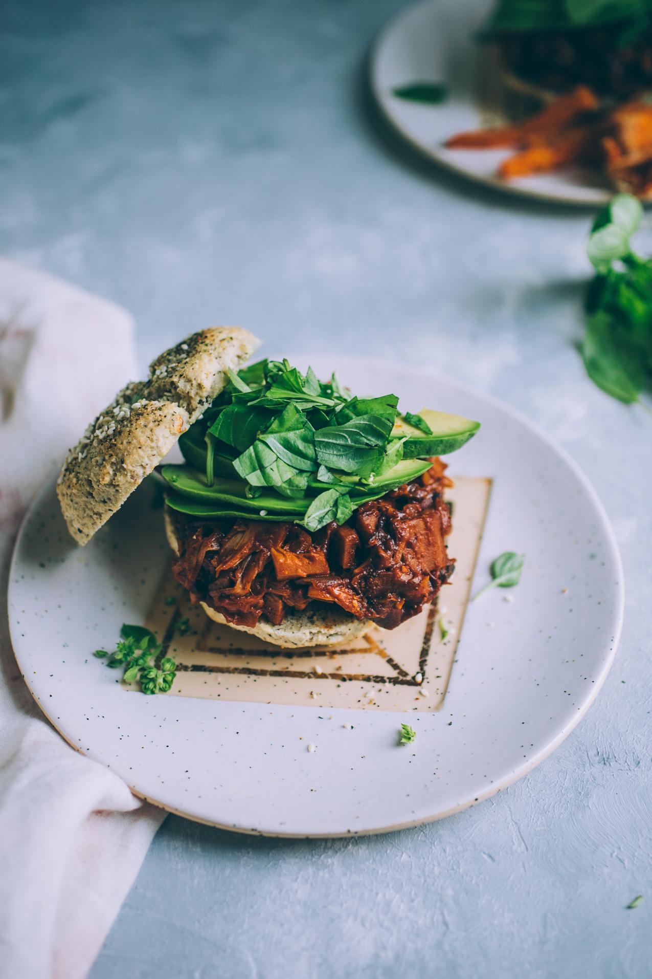 jackfruit mushroom barbecue recipe | vegan barbecue recipe