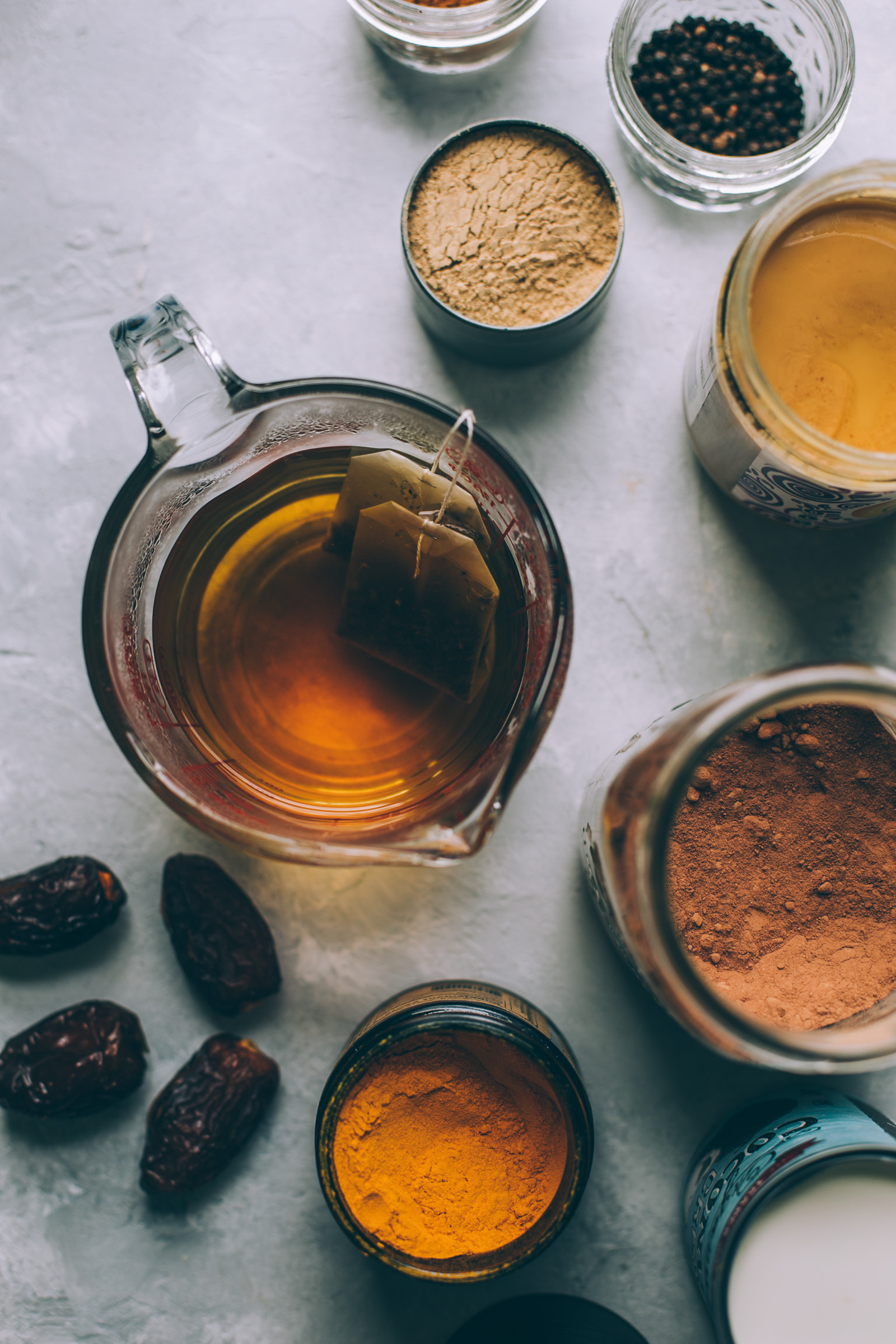 moon cocoa - an herbalism inspired golden milk hot chocolate for menstrual relief and reproductive health