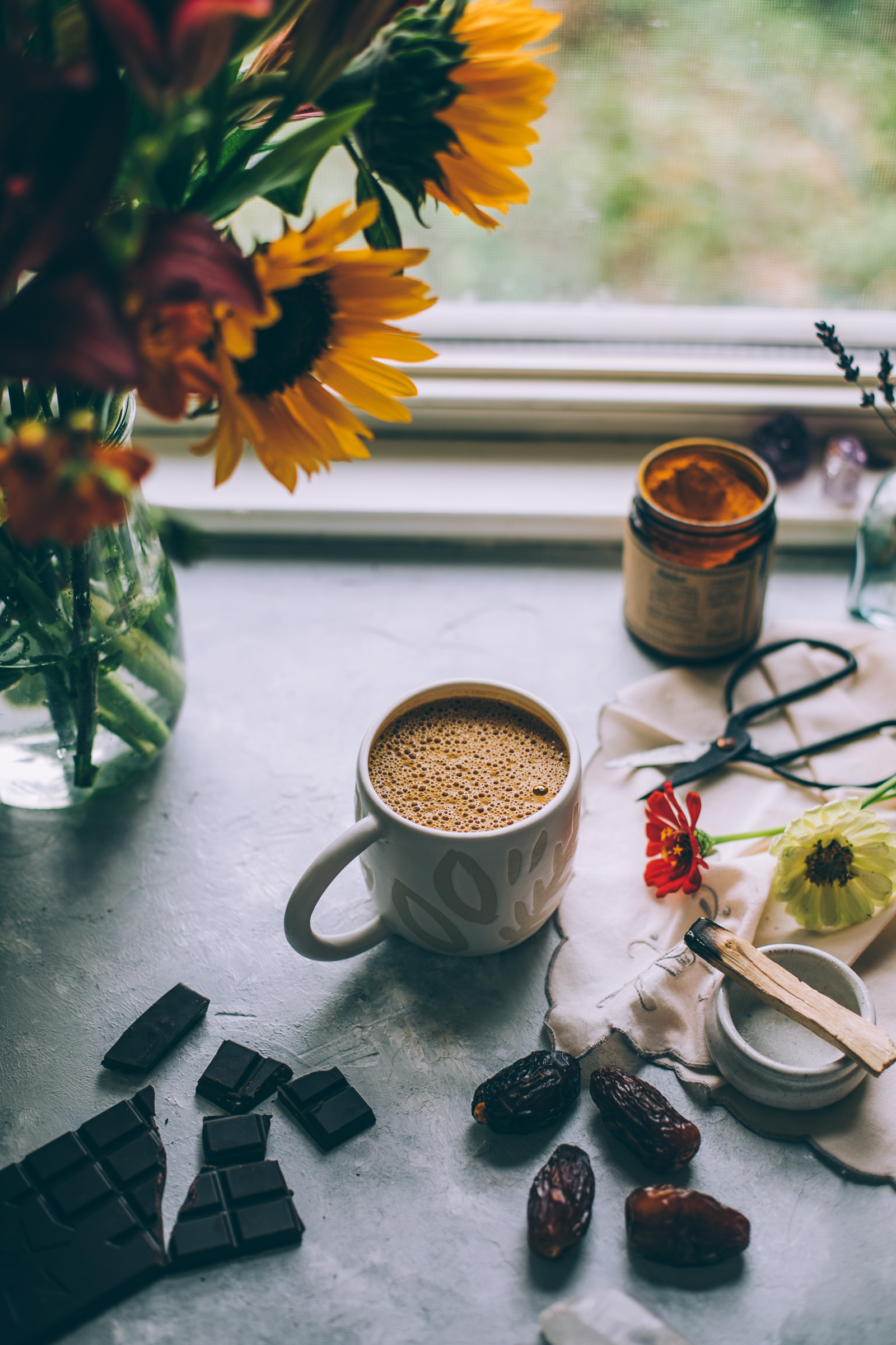 moon cocoa -- an herbalism inspired turmeric hot chocolate for your moon cycle