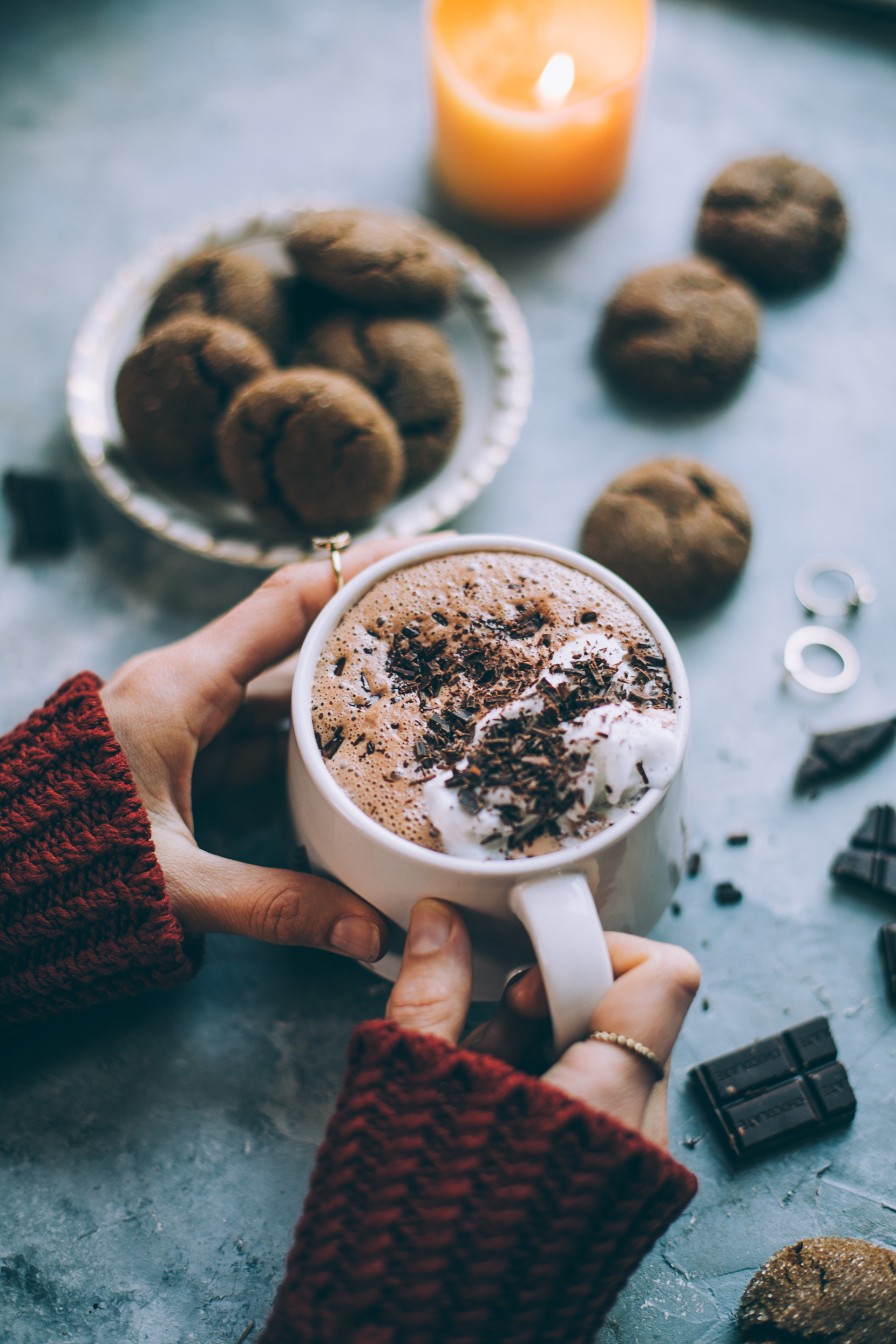 date sweetened vegan hot chocolate