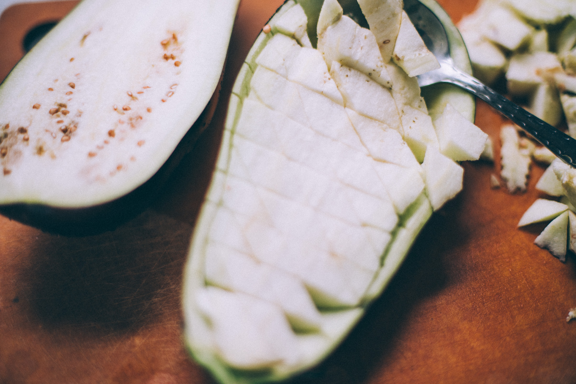twice baked vegan eggplant parmesan recipe via willfrolicforfood.com