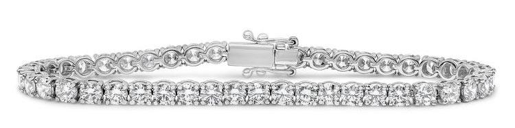 Round Cut Diamond Gold Tennis Bracelet