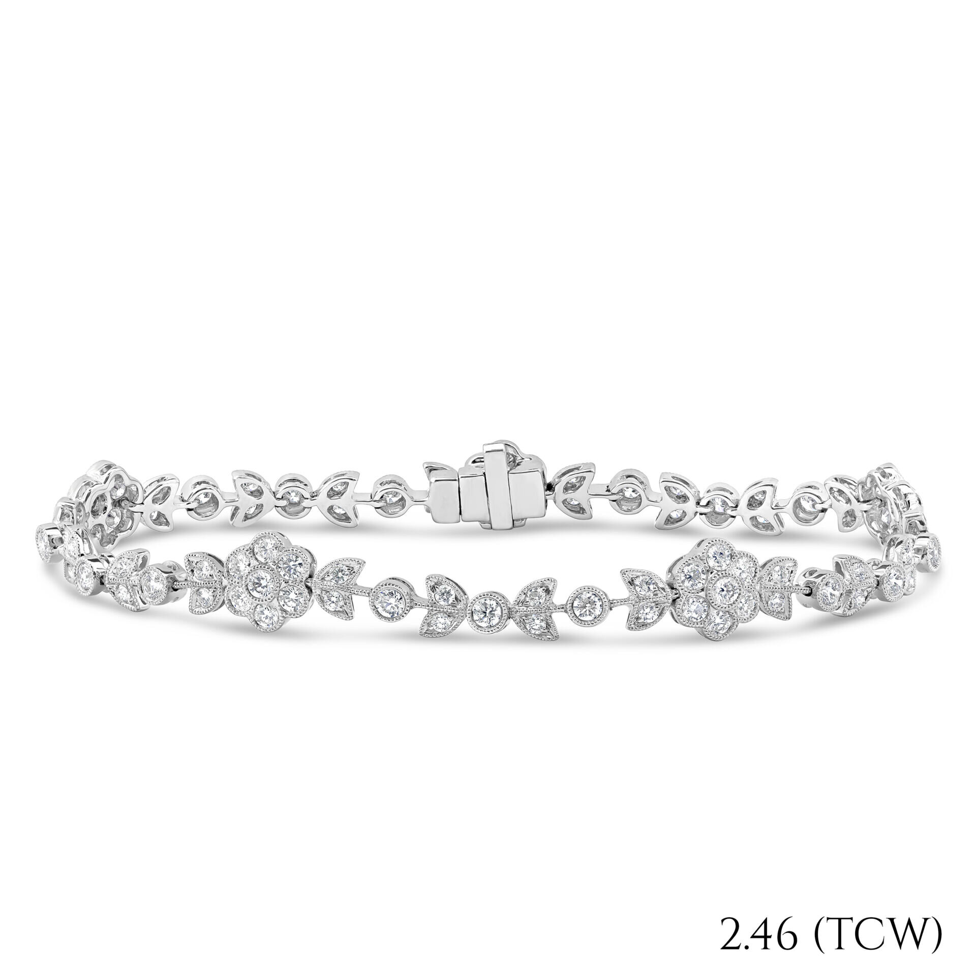Diamond Flower Tennis Bracelet