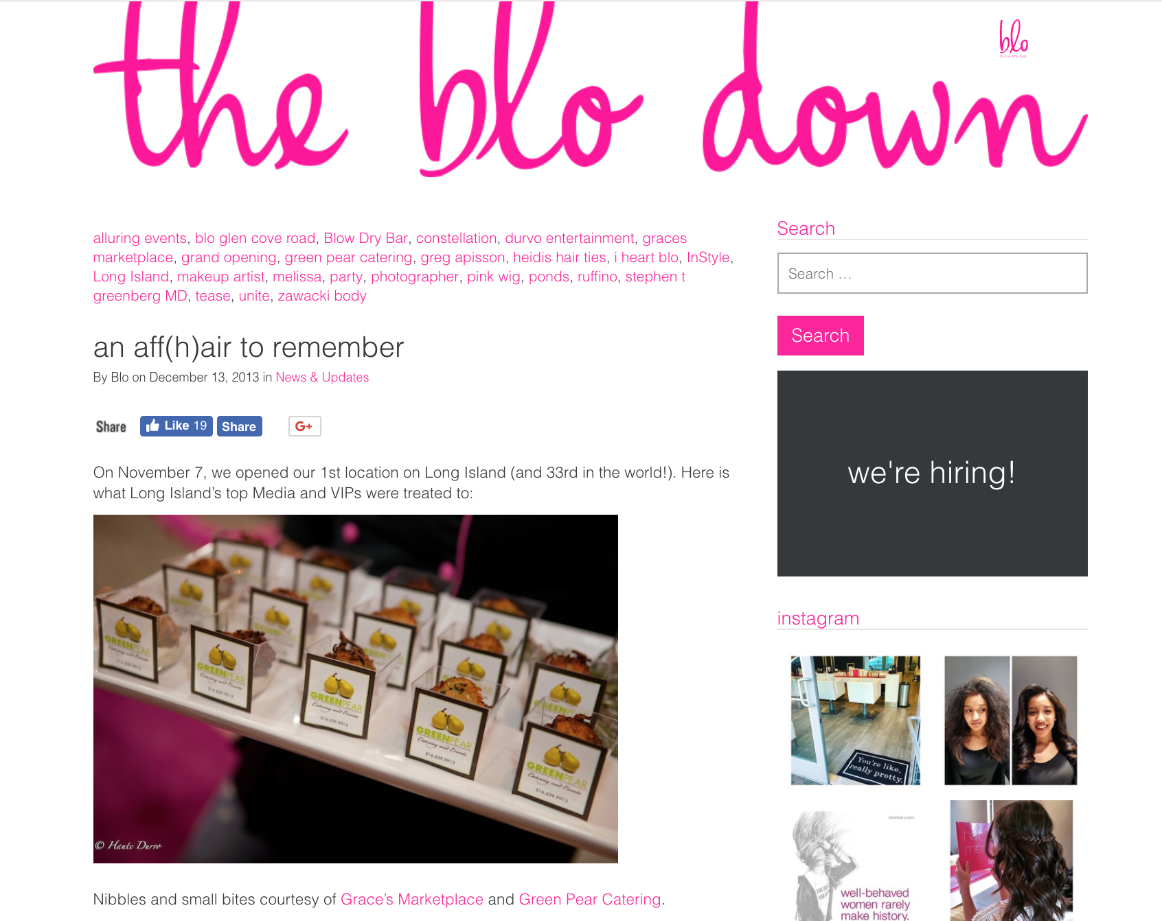The Blo Dry Bar   | December 2013