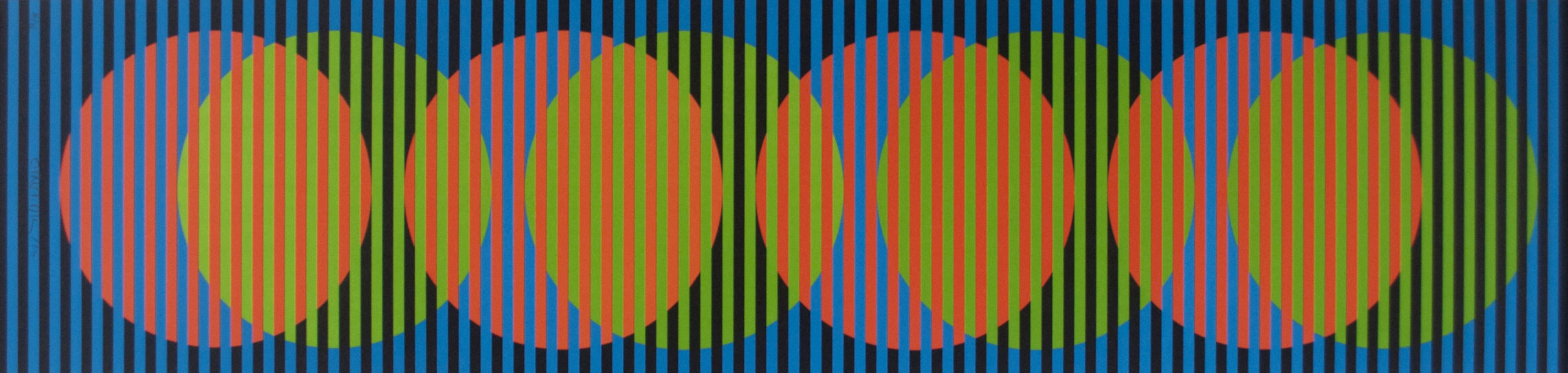 MO006, Carlos Cruz-Diez, Sitges 1, serigrafía, 100 x 25 cm, 2012.jpg