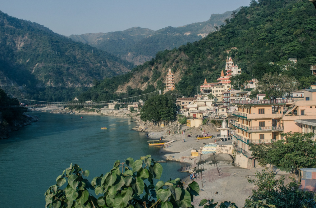 "OUR DESTINATION: Rishikesh, in Uttarakhand, Northern India is known as The Yoga and Meditation Capital of the World. It sits in the foothills of the Himalayas along the mighty Ganges River ""Mother Ganga"". The entire city is vegetarian and alcohol-free."