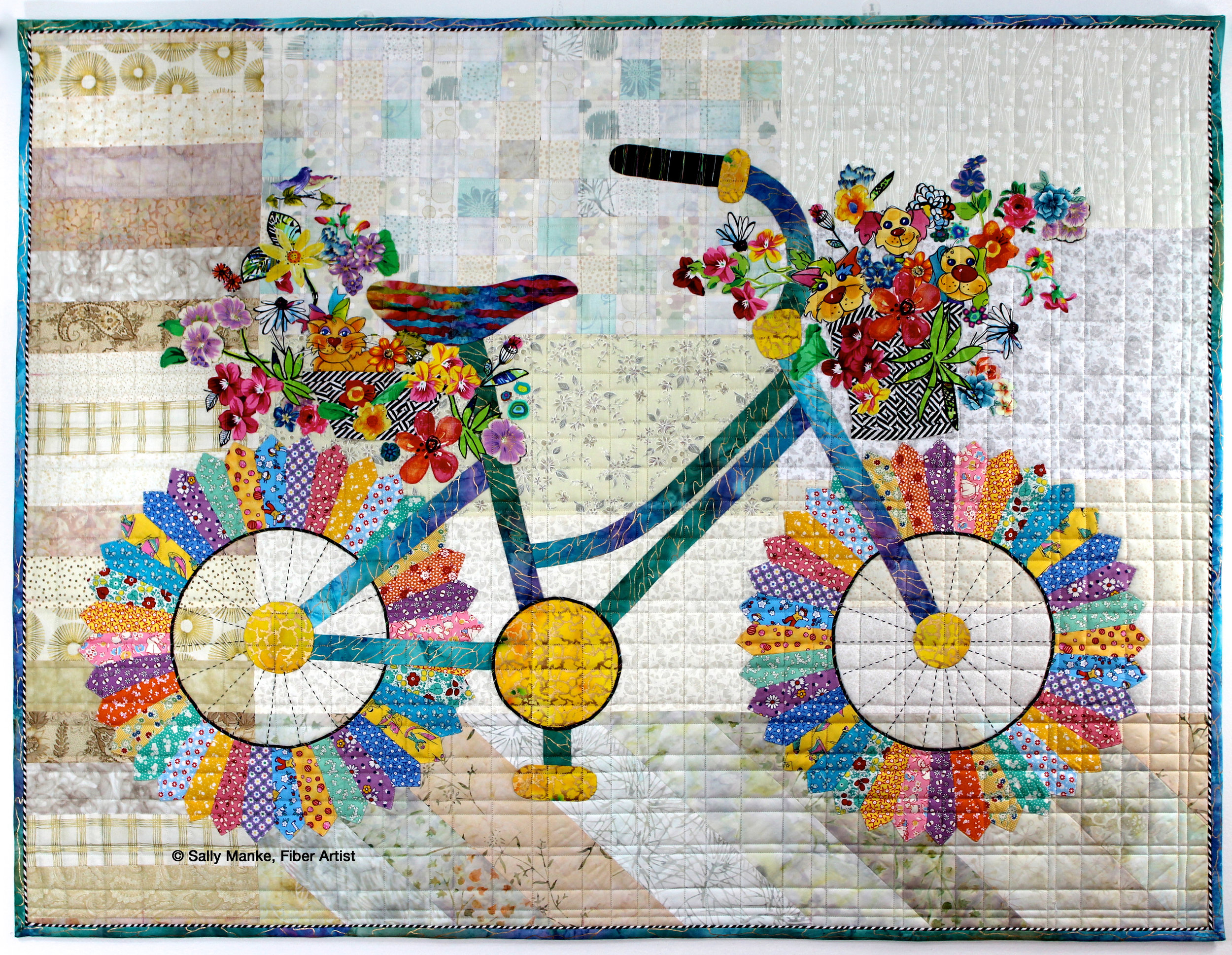 Whimsical Bicycle, Bright
