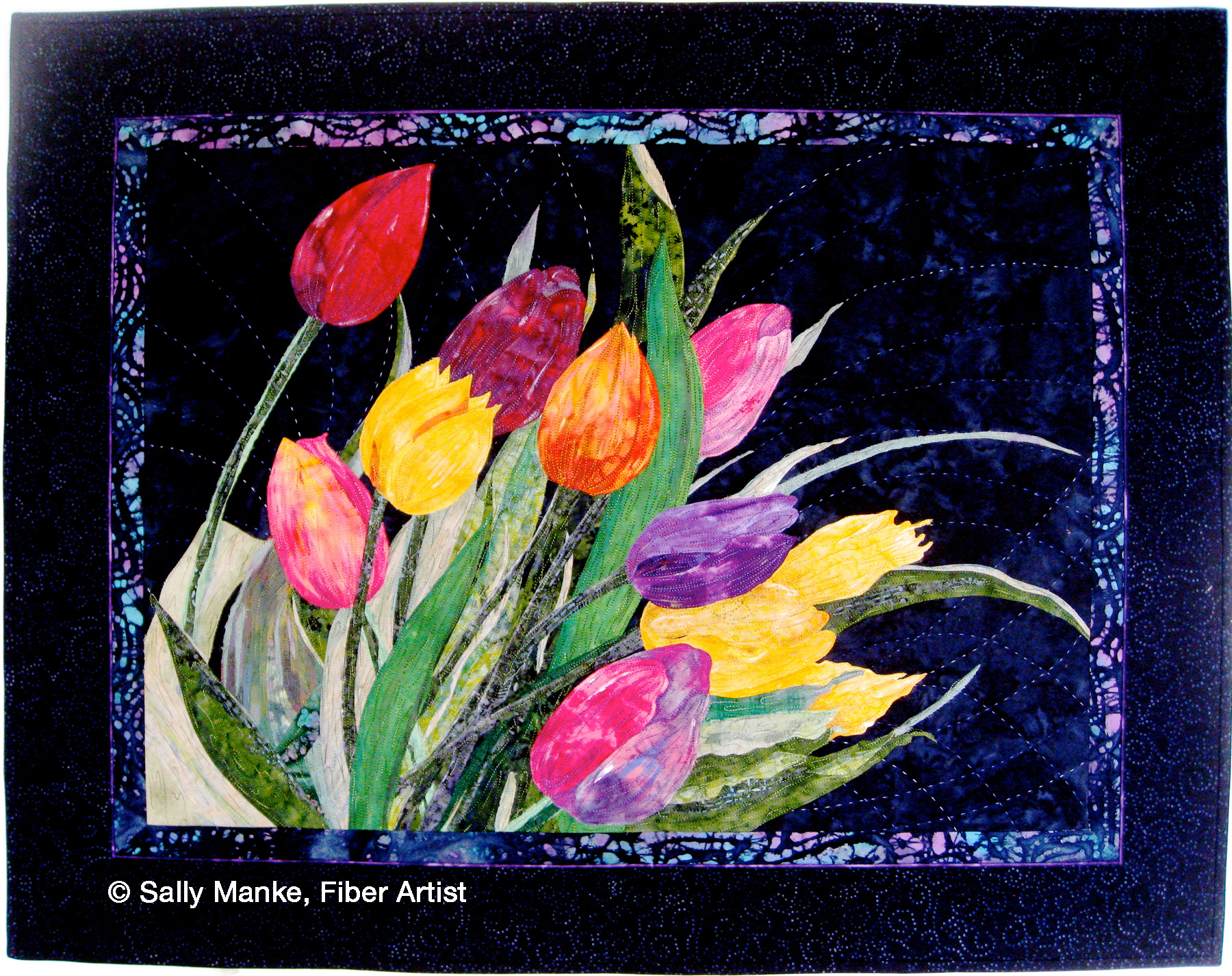 Wind Tossed Tulips