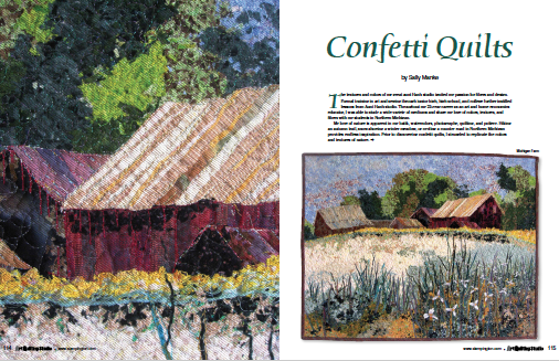 Confetti Quilts, Art Quilting Studio Magazine