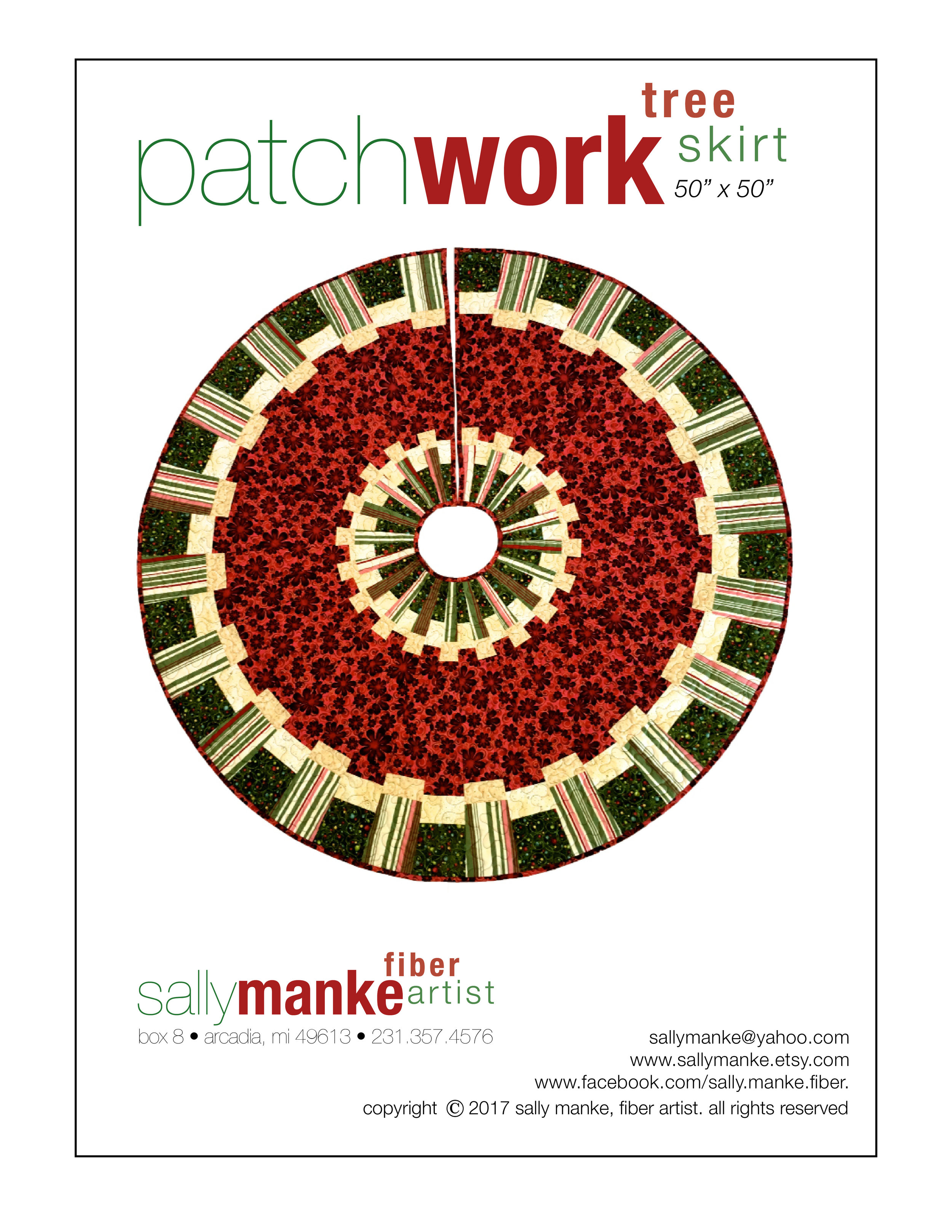 Patchwork Tree Skirt  - 50